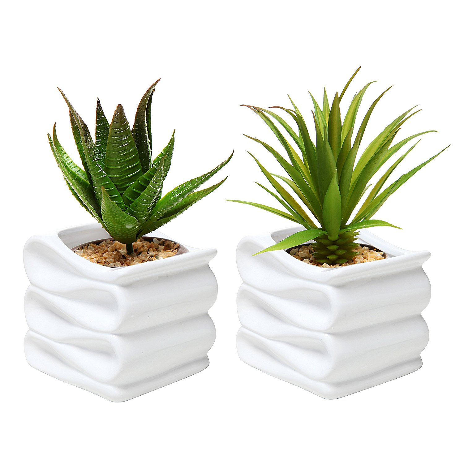 Amazon.com: MyGift Set of 2 Modern Decorative Folded Design Small ...