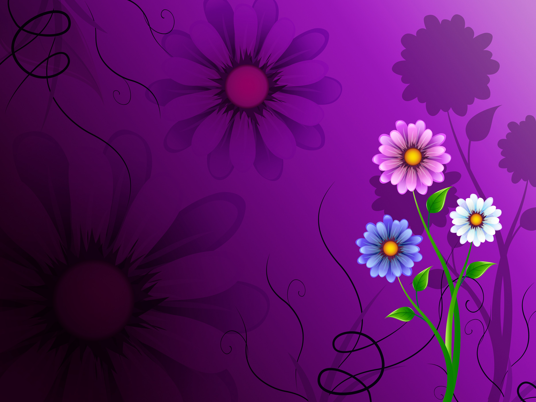 Flowers background shows blooming growing and nature photo