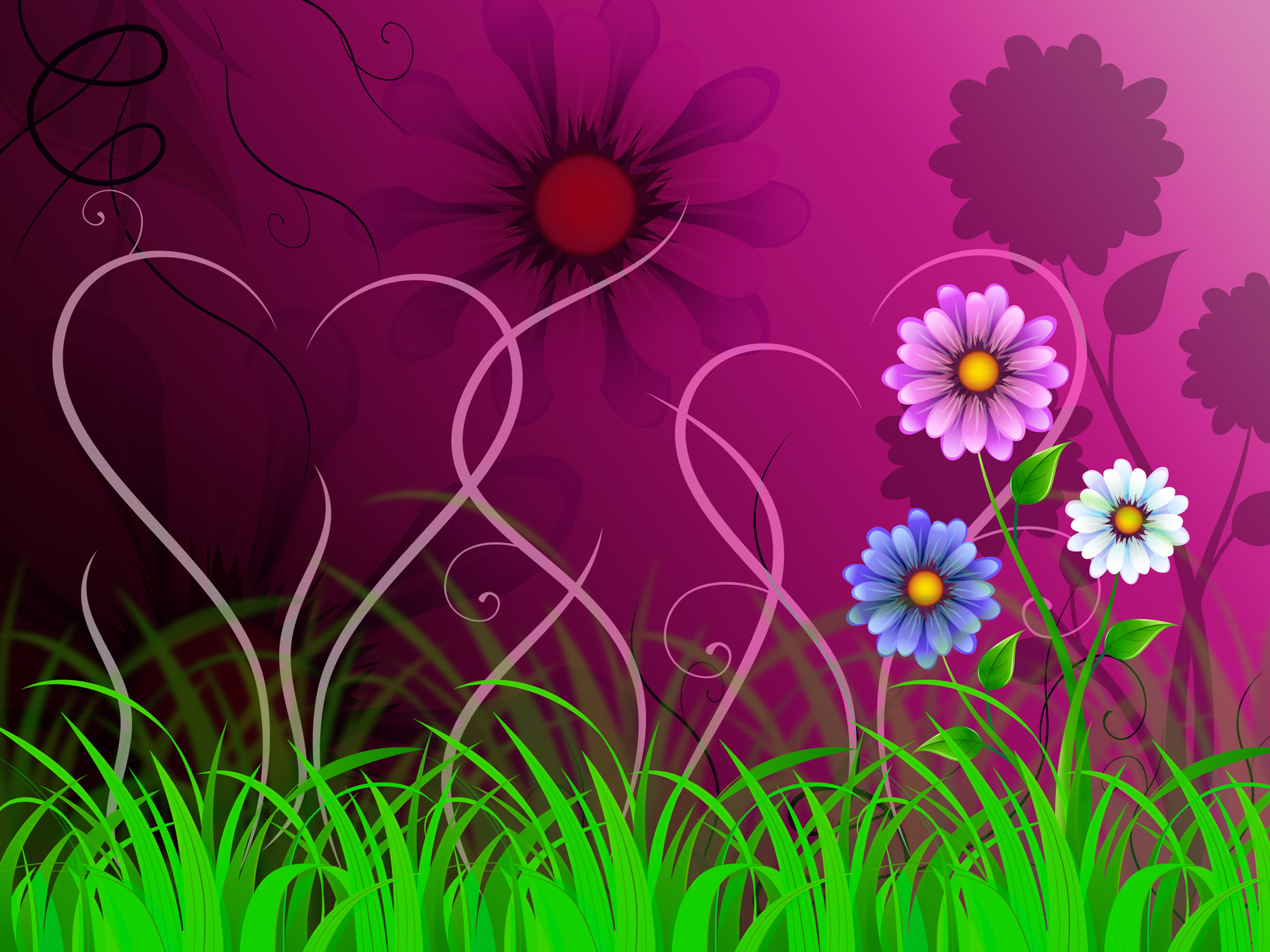 Flowers background shows colorful pretty and natural world photo