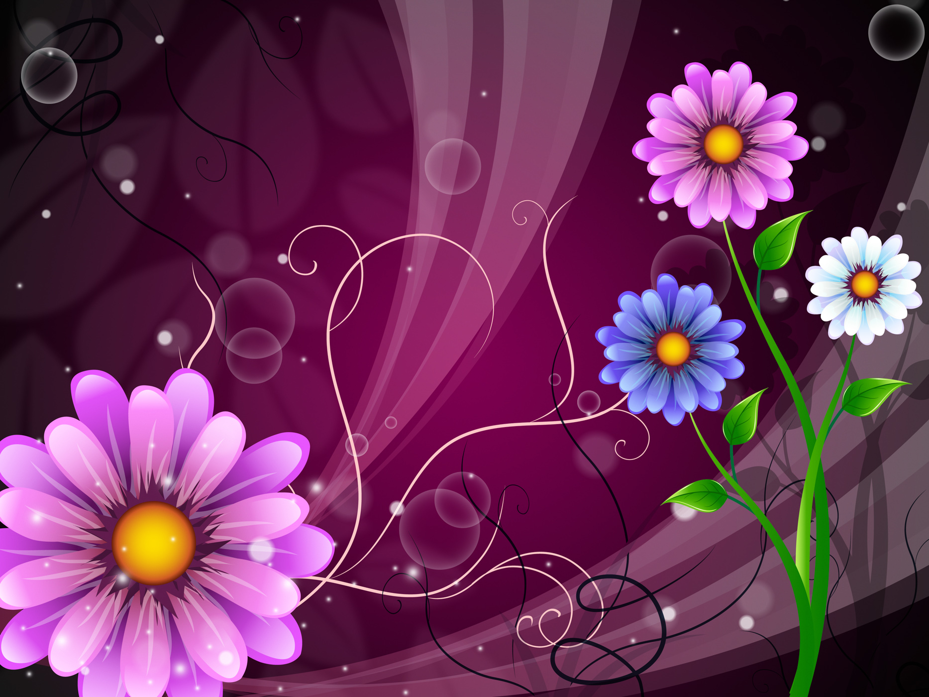 Flowers background shows outdoors flowering and nature photo