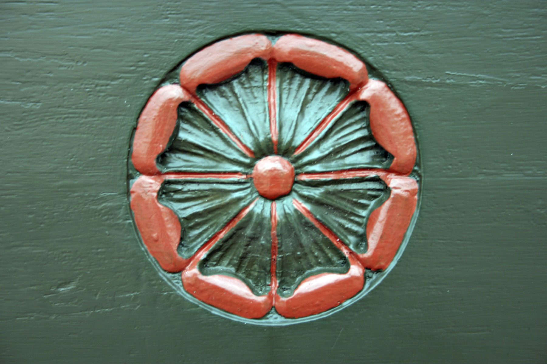 Flowery icon carved into a church door, Art, Carved, Church, Green, HQ Photo