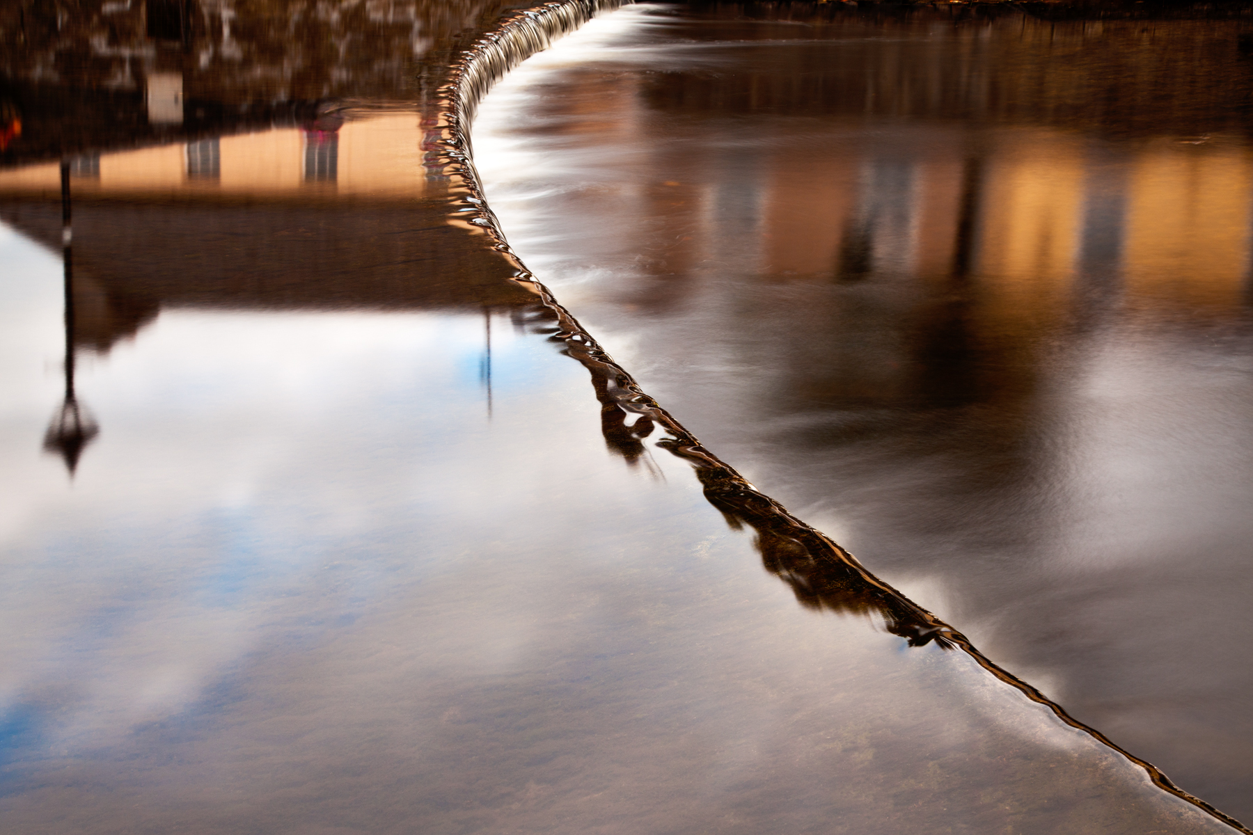 Flowing water abstract photo