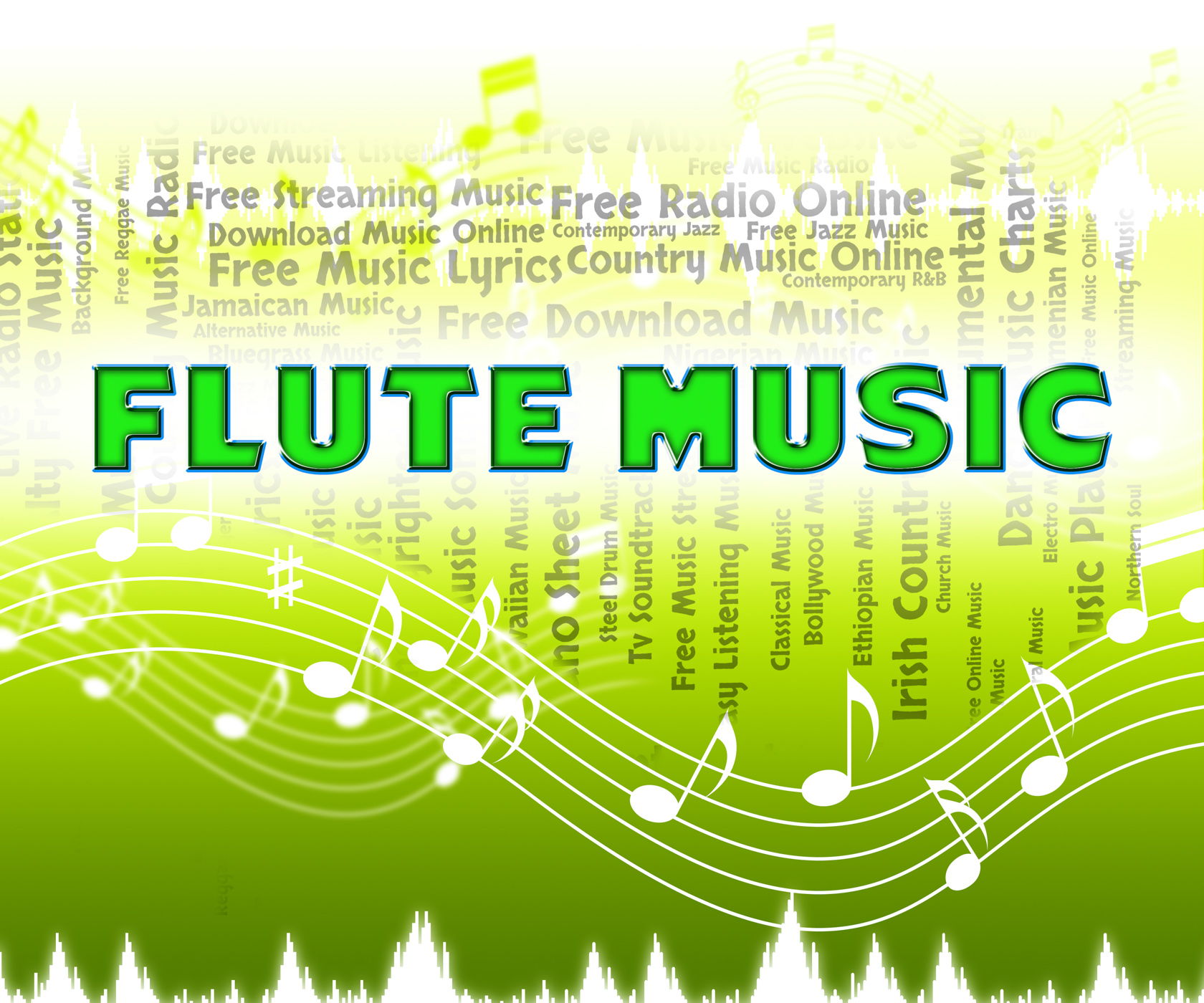 Flute music indicates sound track and flautists photo