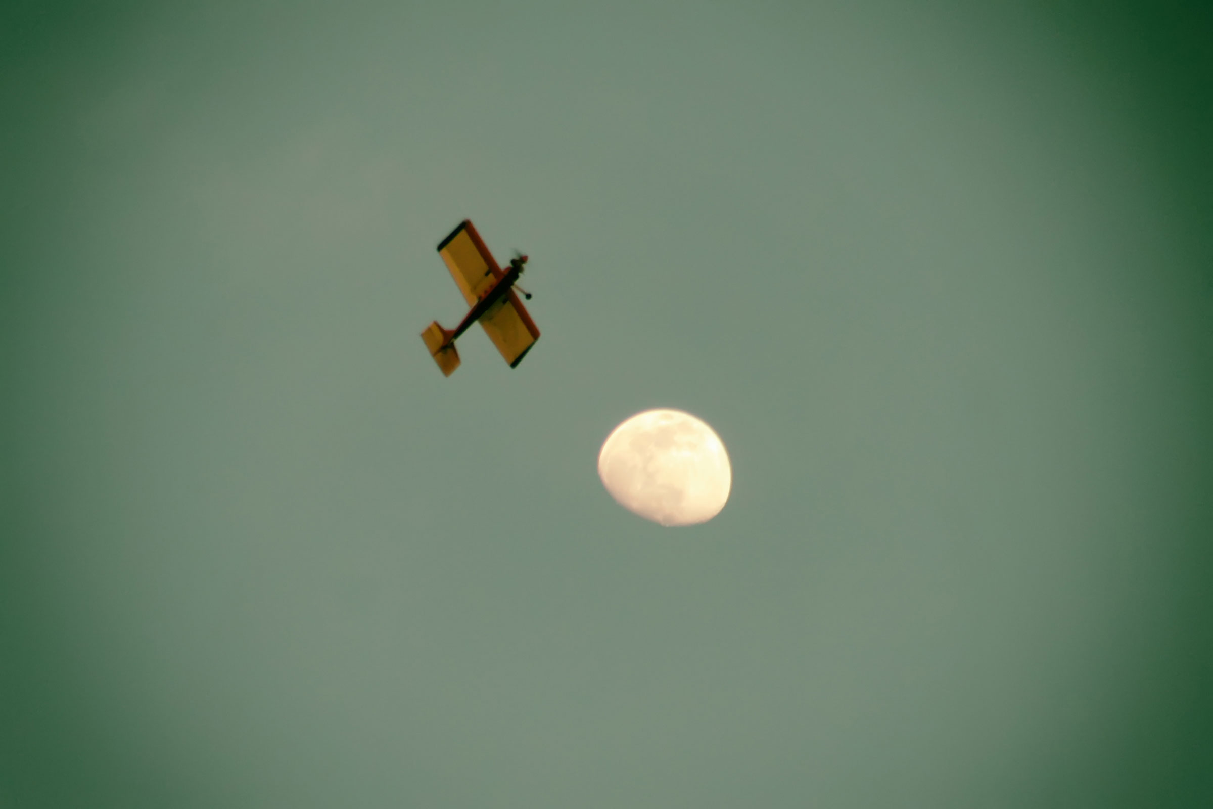 Flying to the moon photo