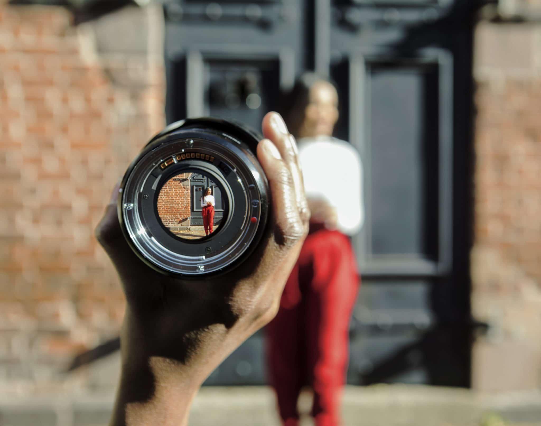 Focus in the lens photo