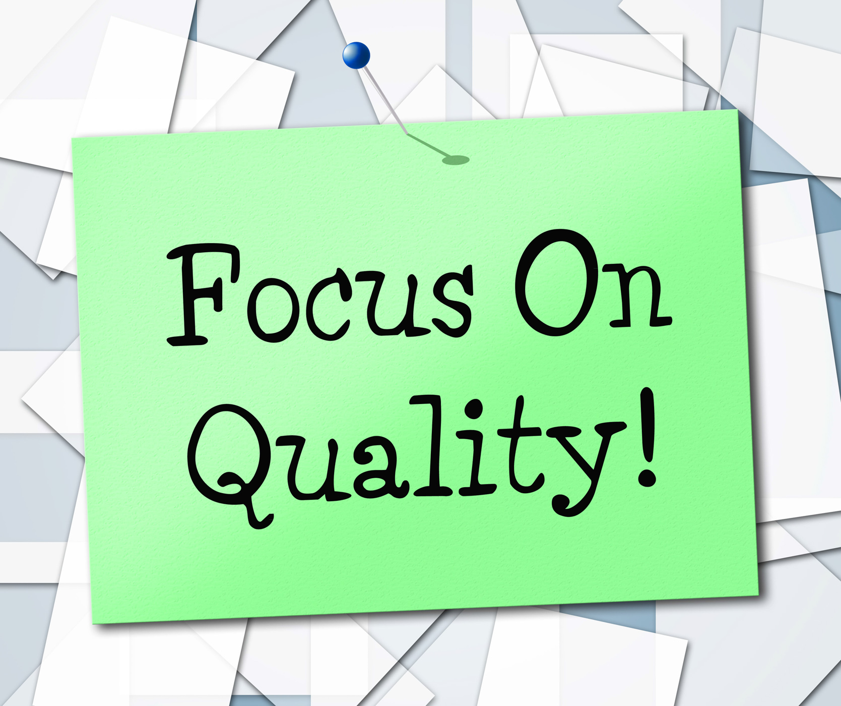 Focus on quality represents certify approve and excellent photo