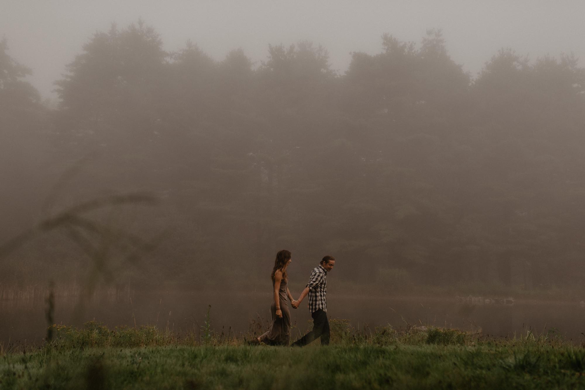 Foggy morning photo