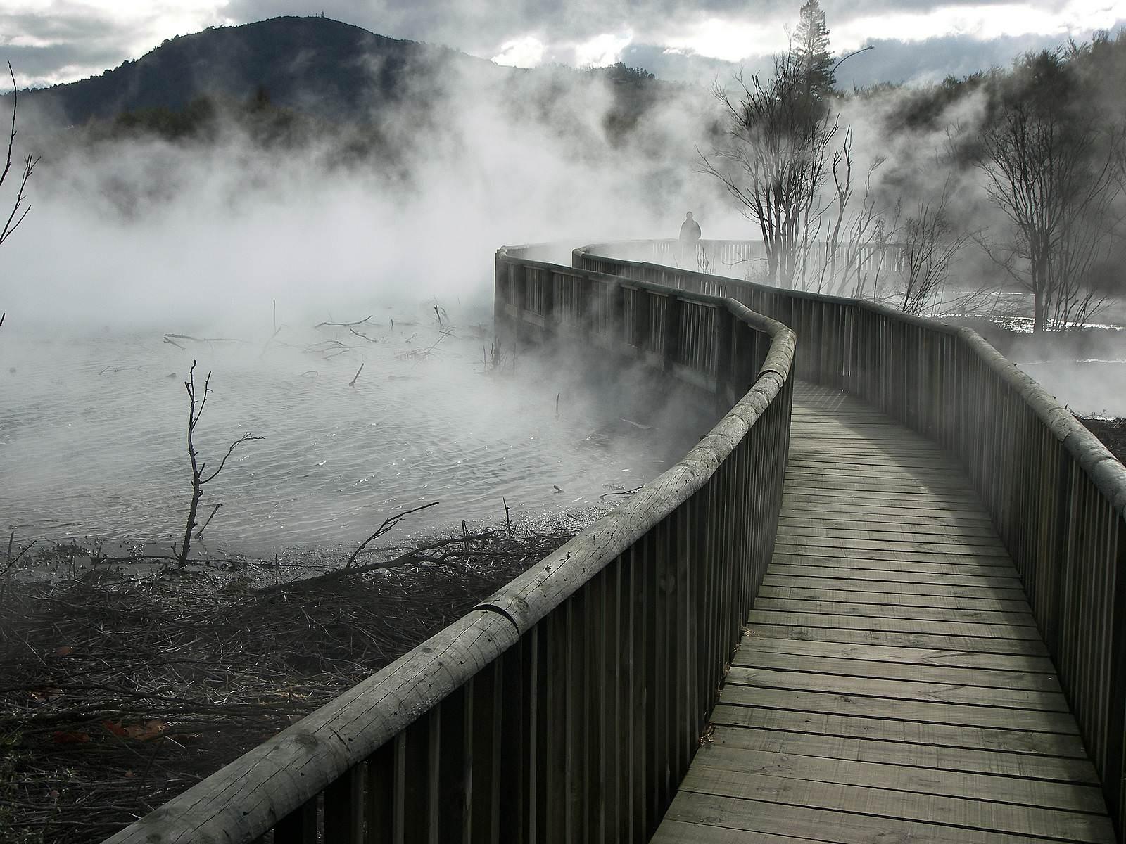 fog bridge foggy - fog