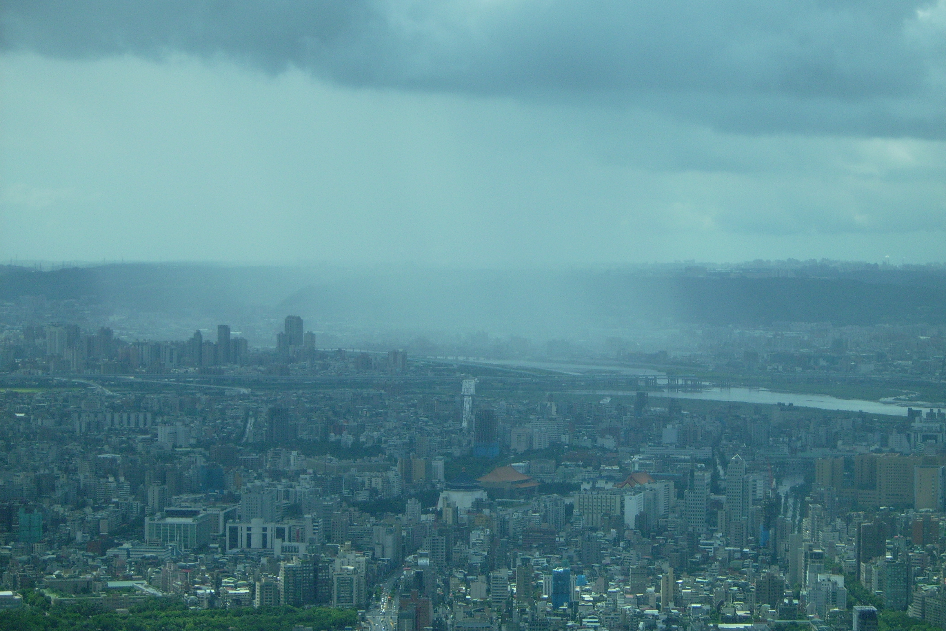 Foggy city photo