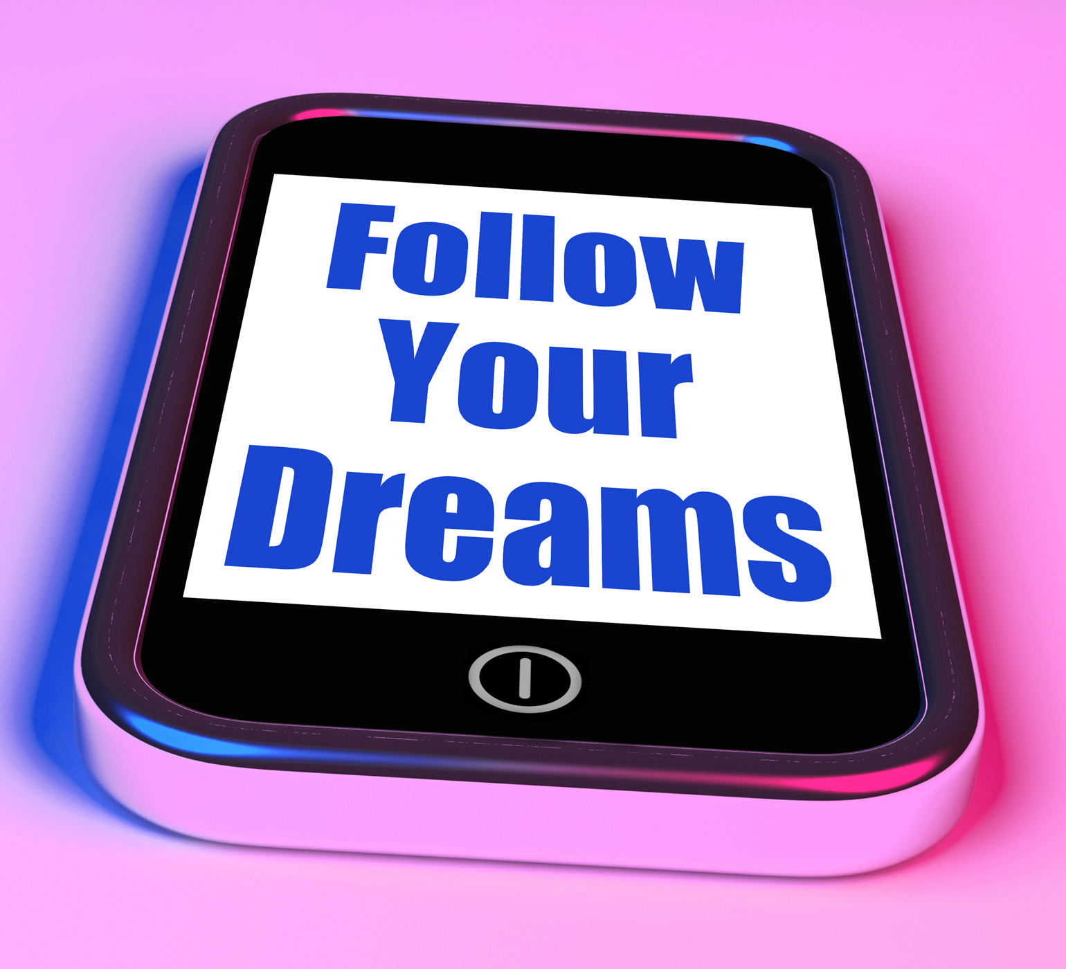 Follow Your Dreams On Phone Means Ambition Desire Future Dream, Hope, Smartphone, Phone, Optimistic, HQ Photo
