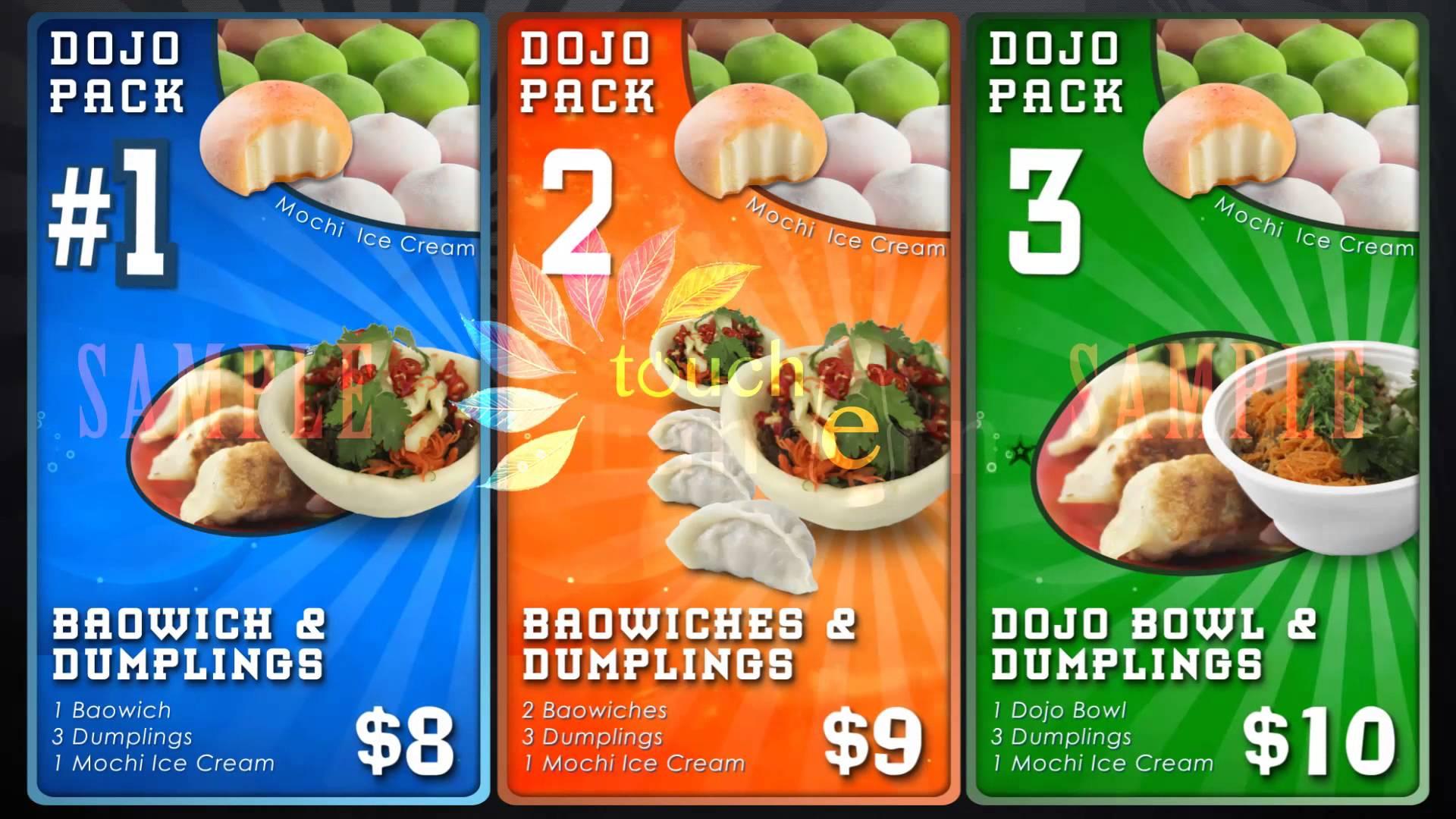 Digital Menu Board System - Food Menu 1512 - Touch Lantern (for ...