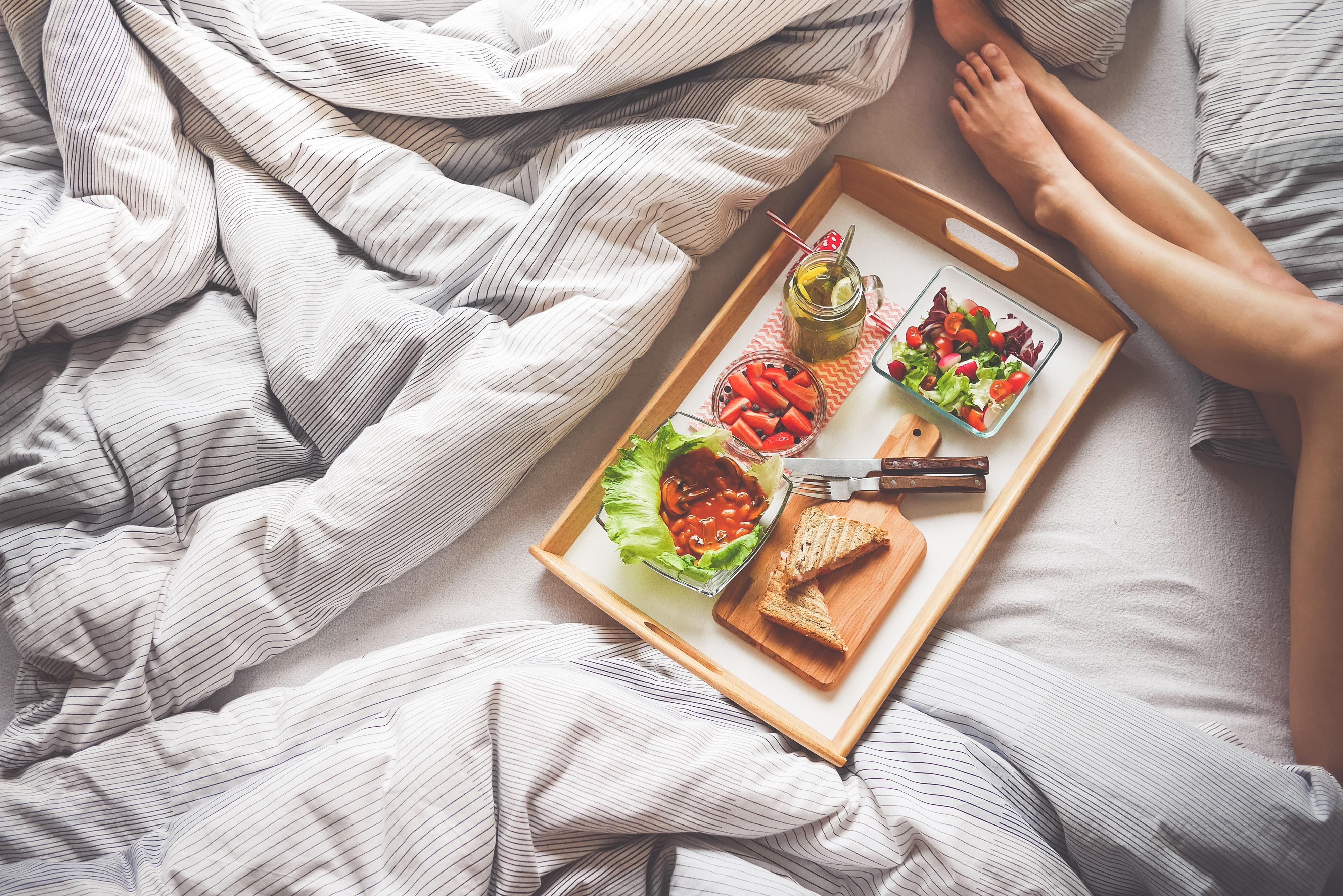 Food photography breakfast on bread illustration