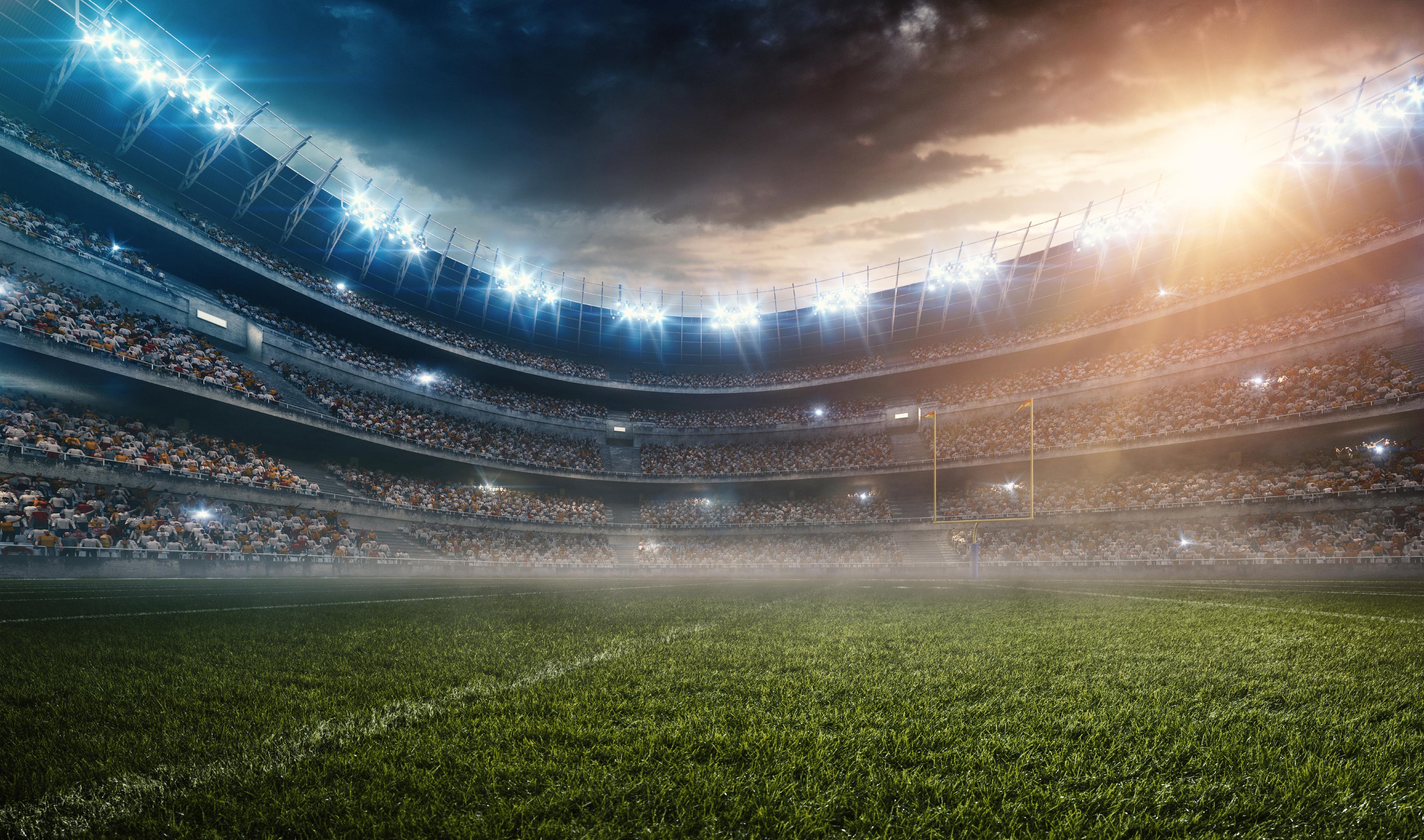 Dramatic american football stadium - Focus for Health