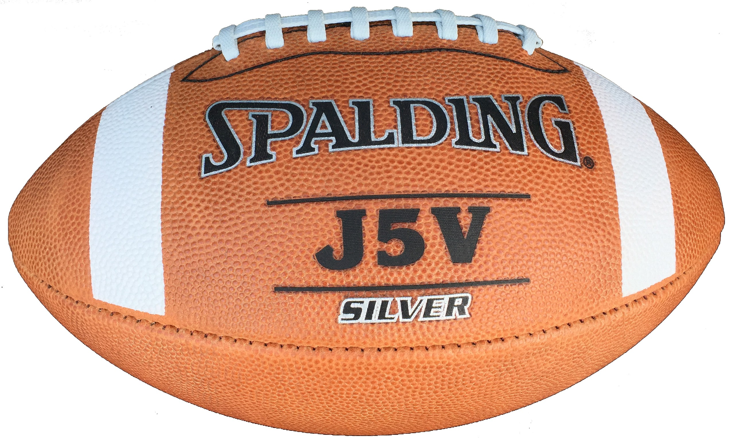 Spalding J5V Silver High School Leather Football | Wizard Sports