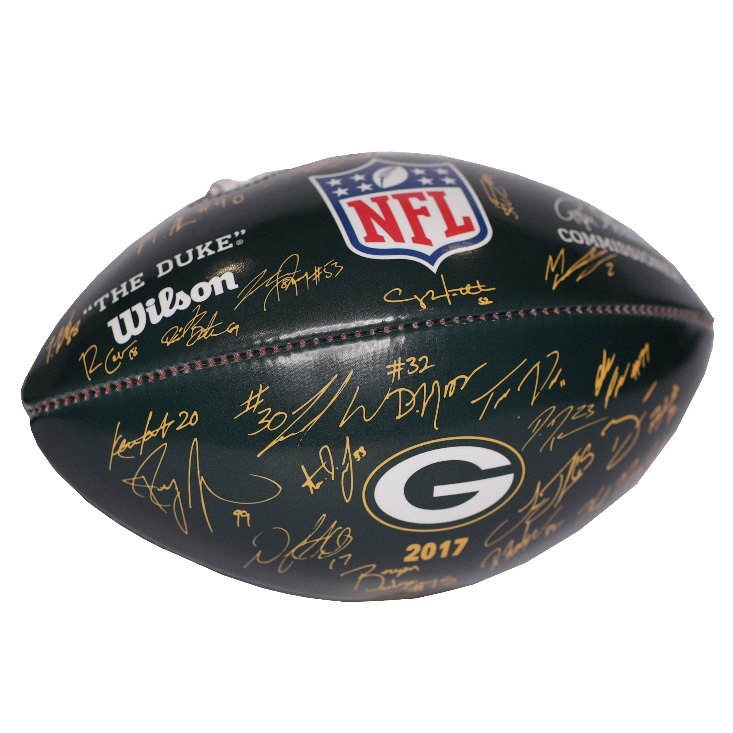Green Bay Packers Footballs at the Packers Pro Shop
