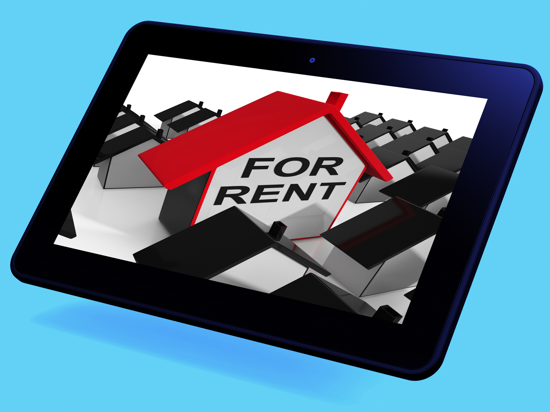 For rent house tablet means leasing to tenants photo