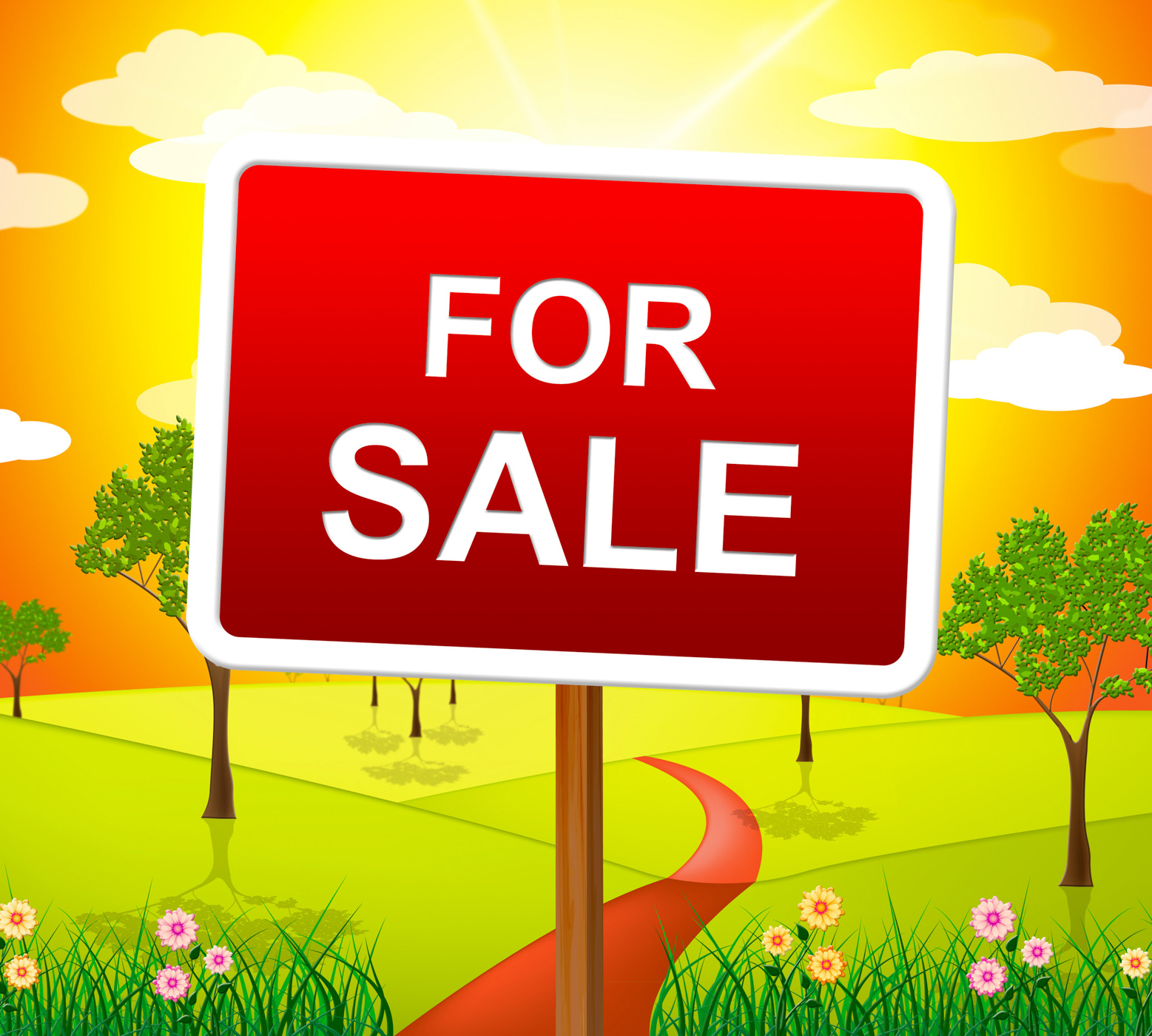 For Sale Indicates Real Estate Agent And Placard, Property, Signboard, Sign, Selling, HQ Photo
