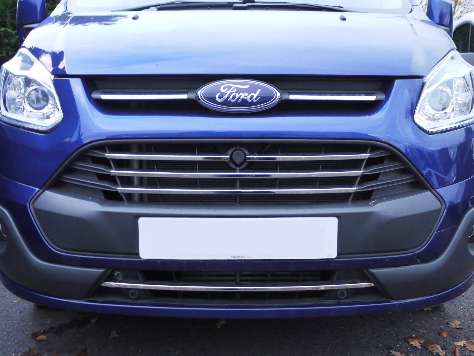 Chrome Stainless Steel 5pc Front Grille Surround for Ford Transit ...