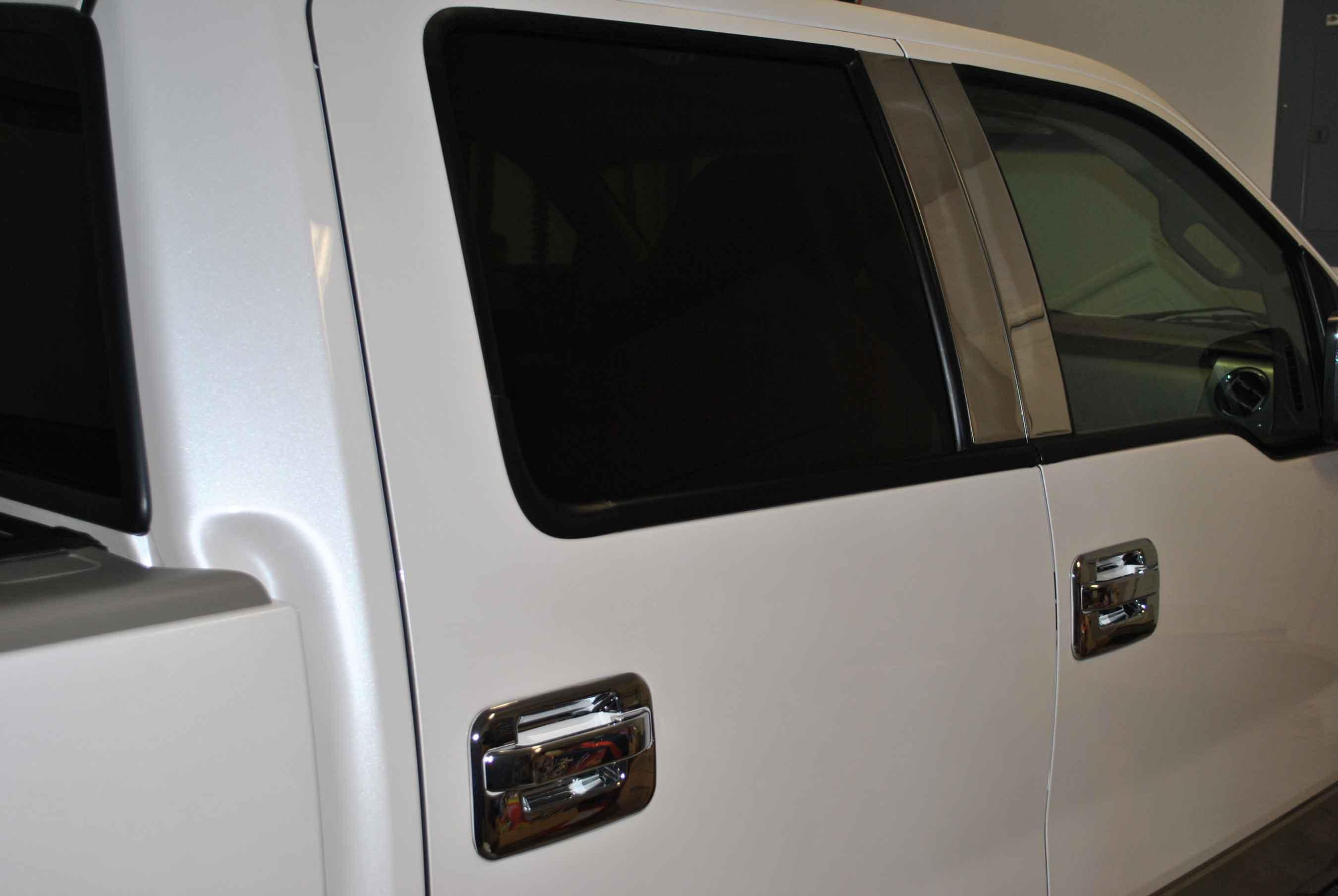 Ford F150 / F250 chrome fender vent port hole trim