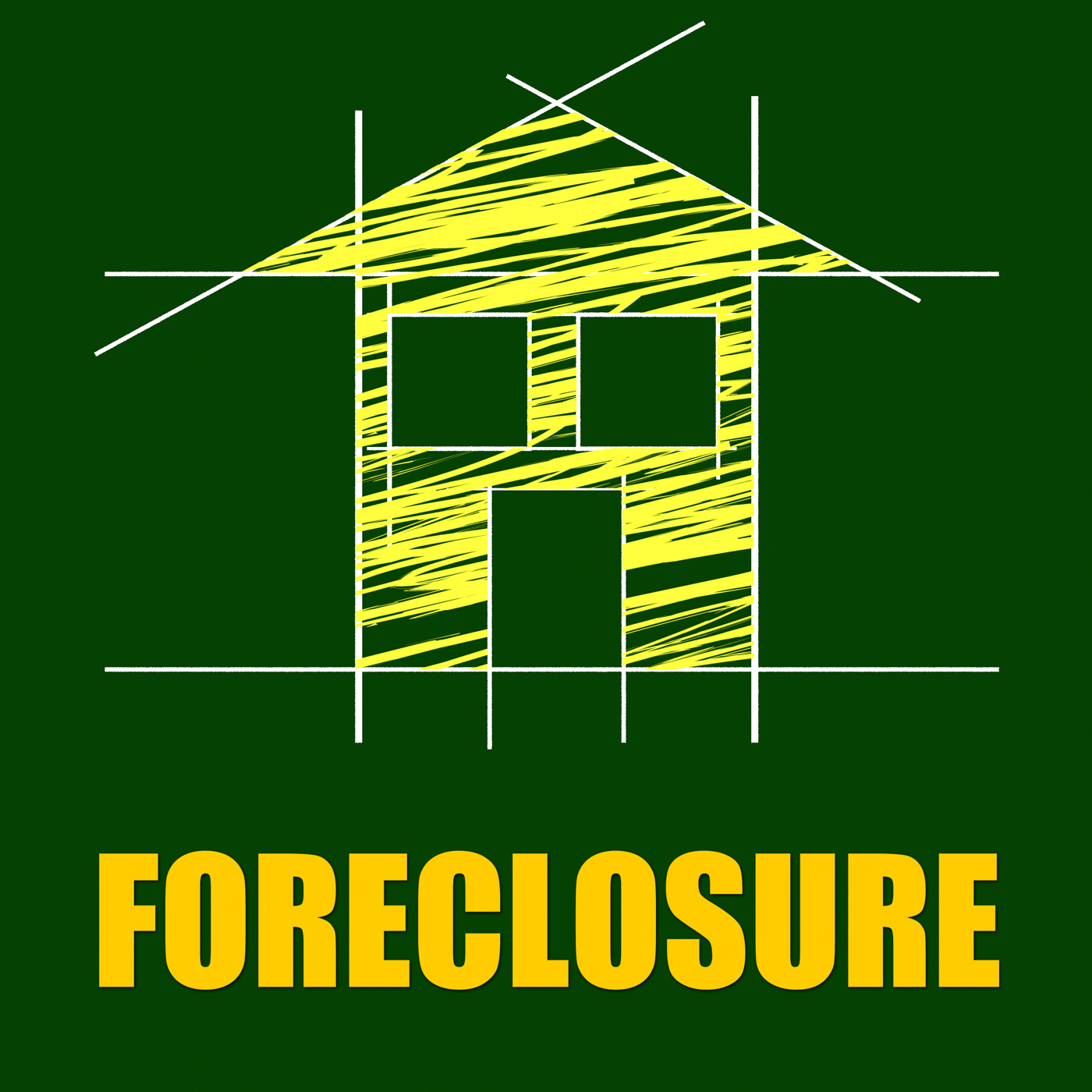 Foreclosure house indicates repayments stopped and apartment photo