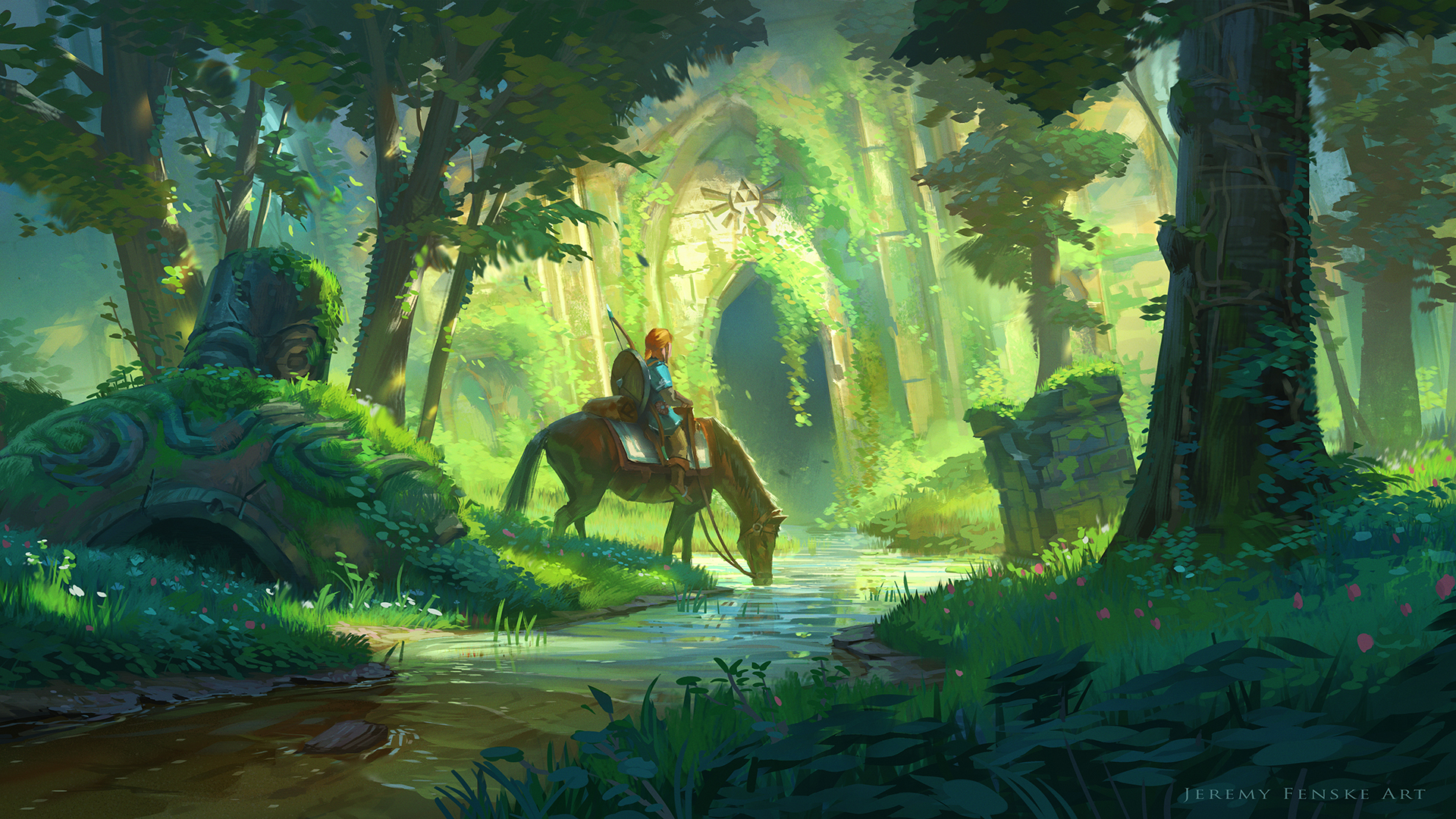 Link and the Forest Temple on Behance