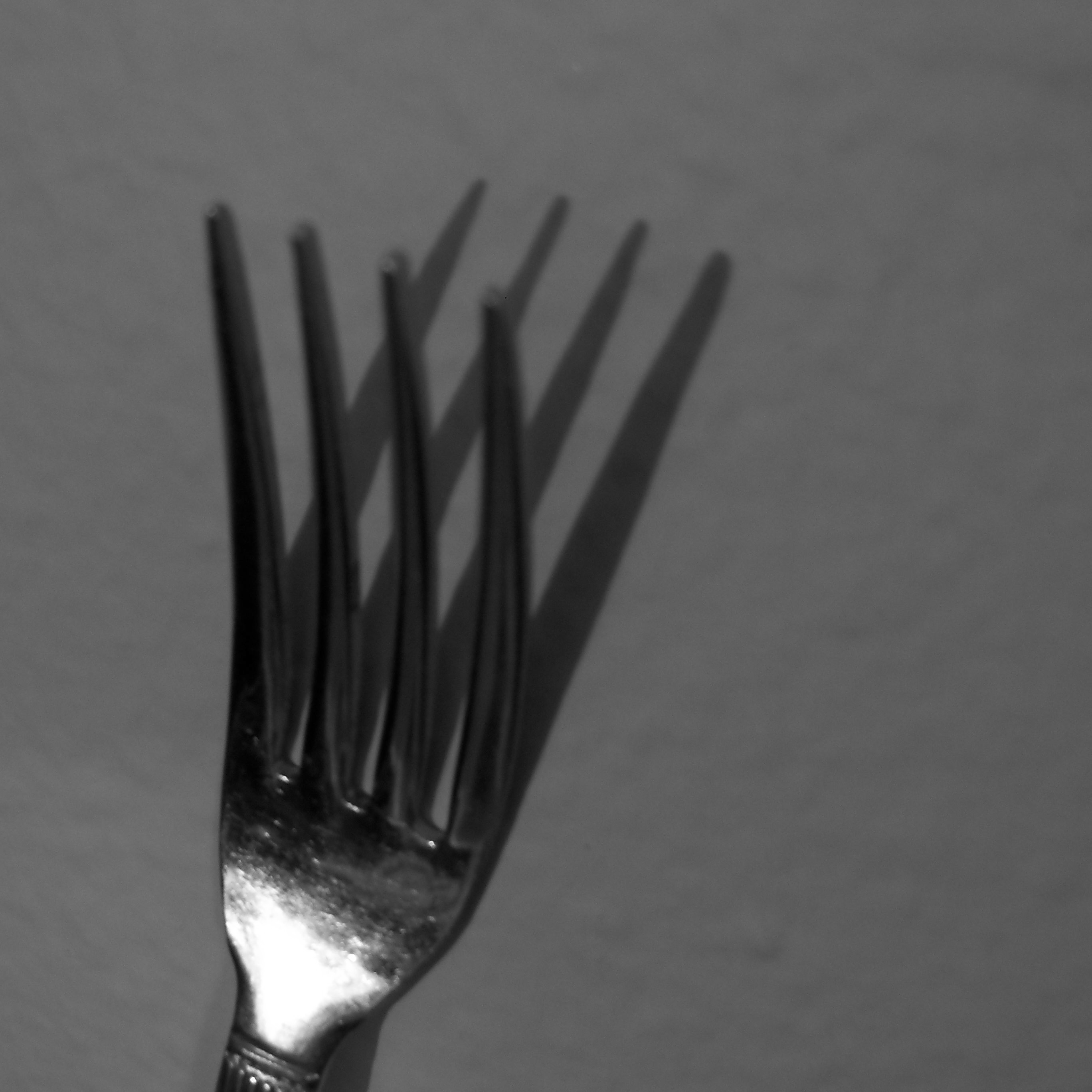 Fork, Abstract, Forms, Patterns, Shadows, HQ Photo