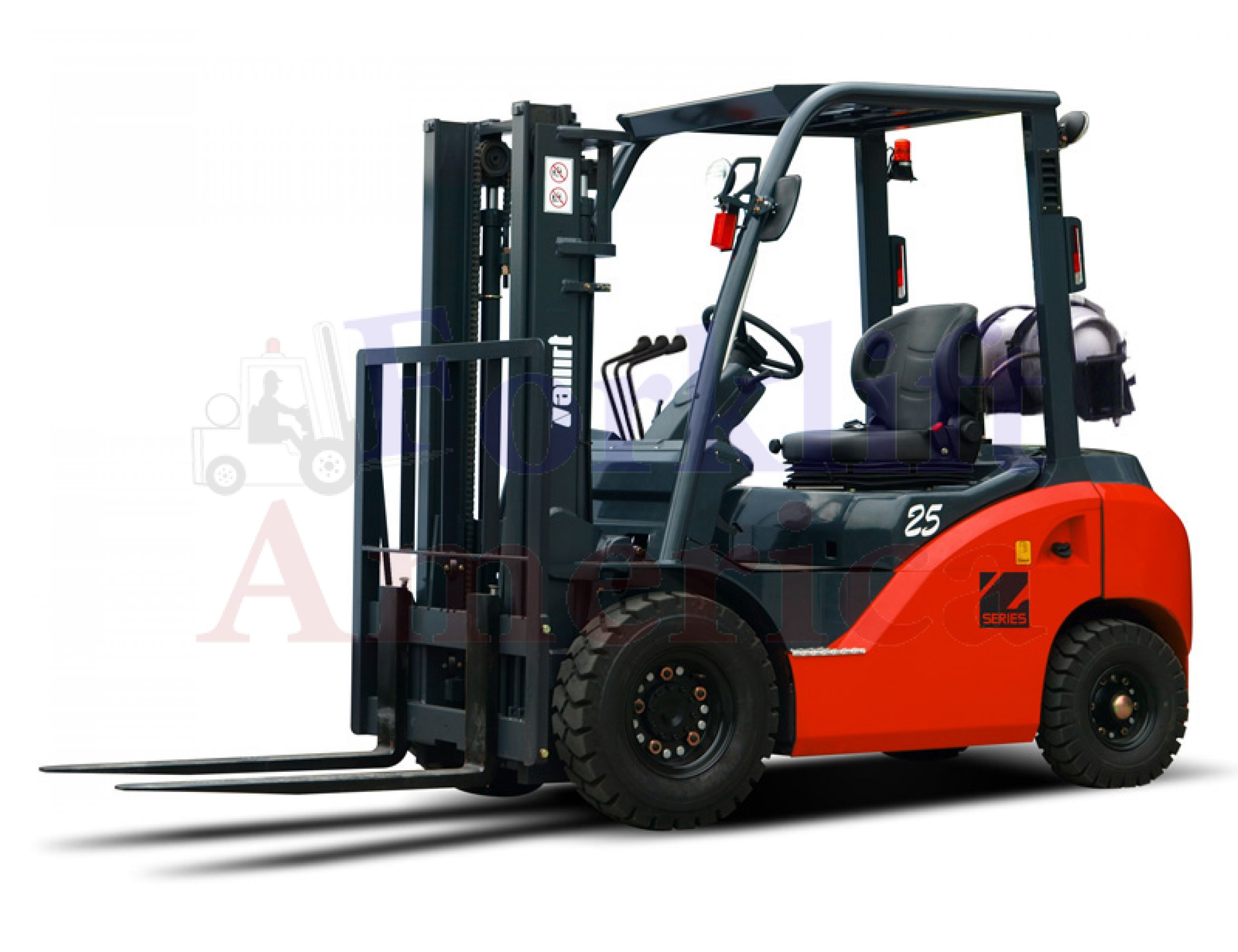 Tailift (owned by Toyota) Z-Series PG25C 5000 LB Pneumatic LPG Forklift