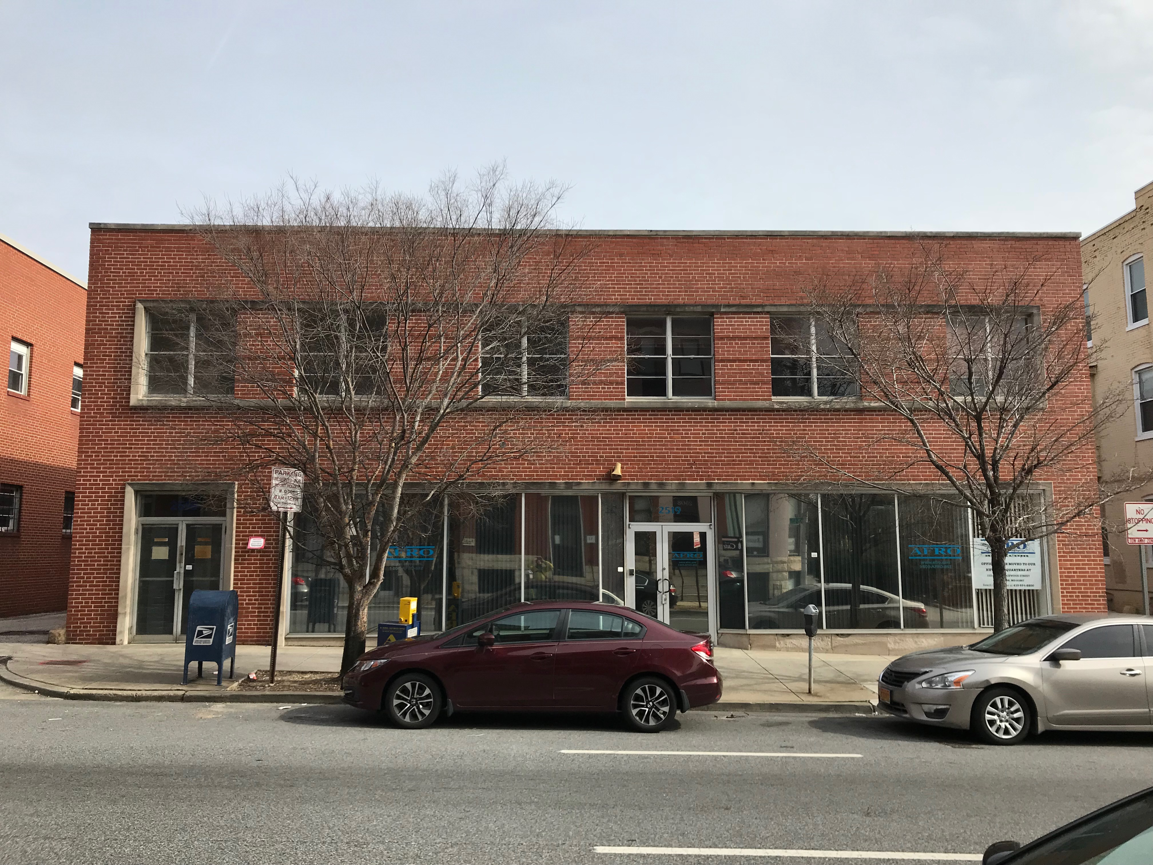 Former offices of Afro-American Newspaper, 2519 N. Charles Street, Baltimore, MD 21218, Baltimore, Building, Car, Charles Street, HQ Photo