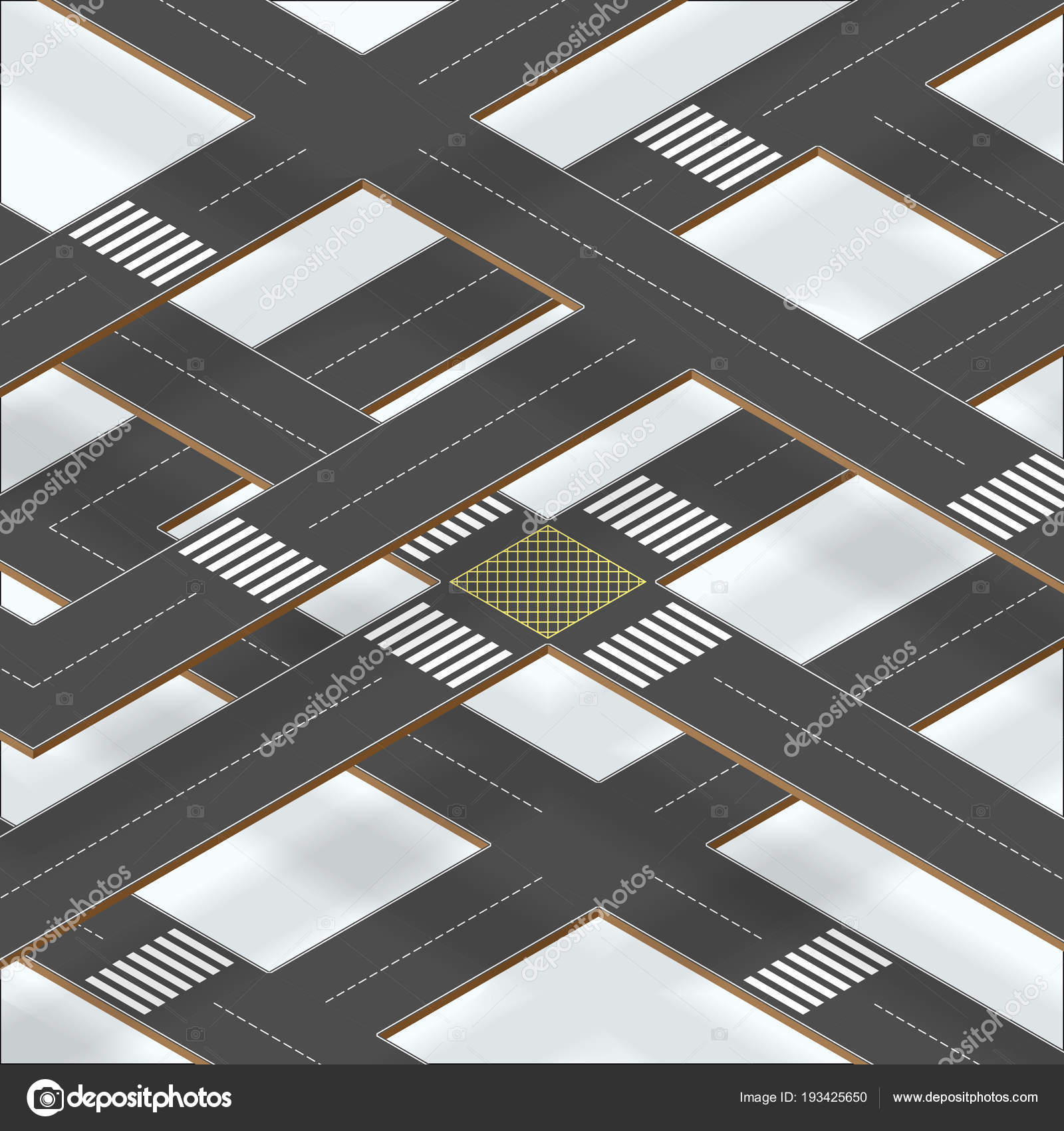 Multilevel crossroad sections with shadows — Stock Vector ...