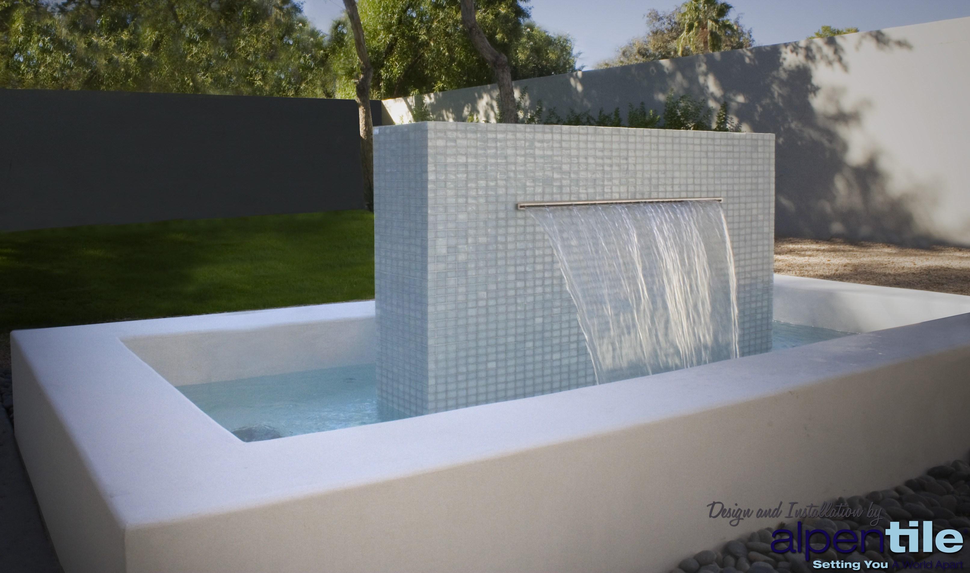 Fountain of tiles photo