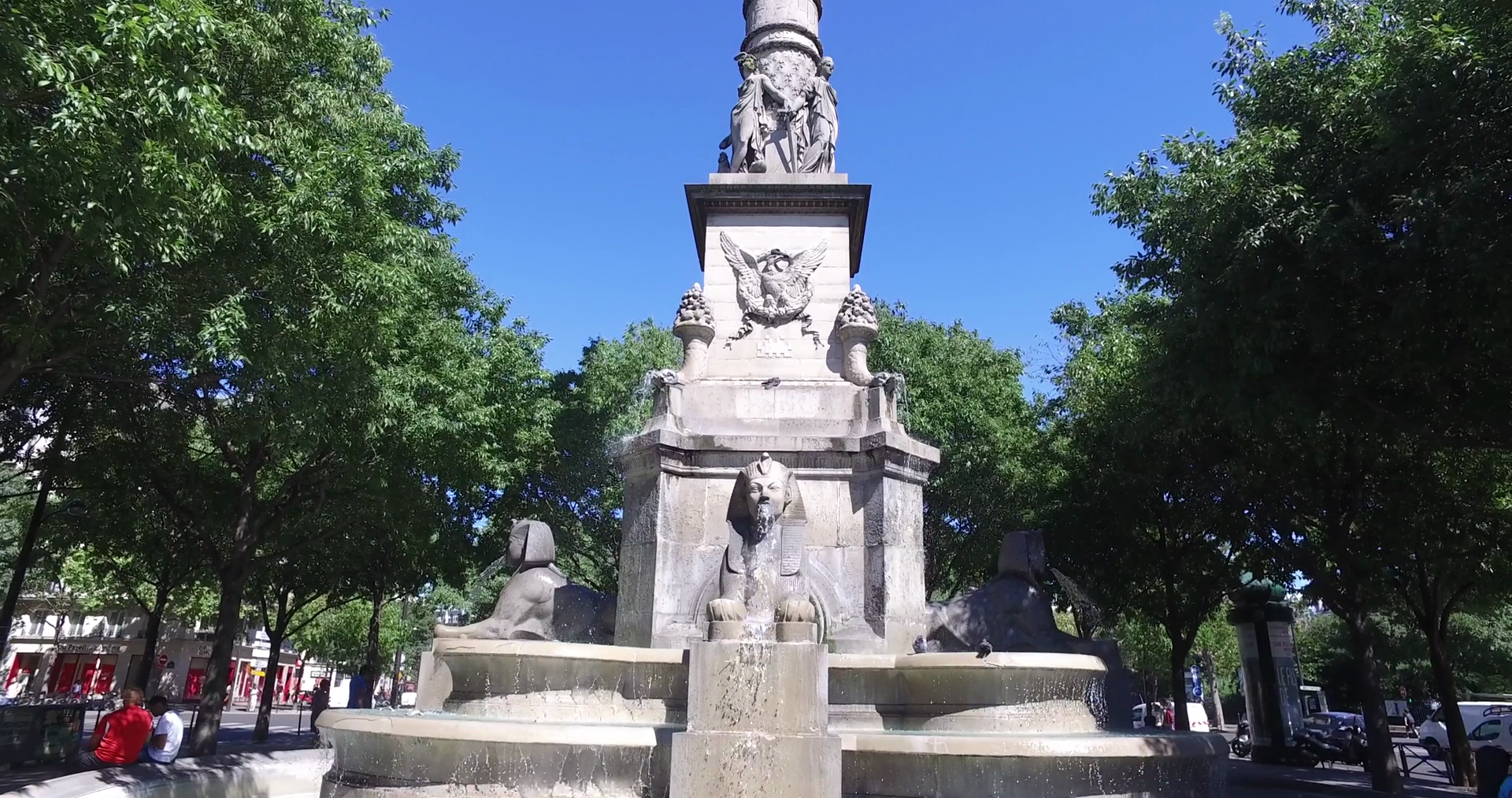 Fountain sphinx photo