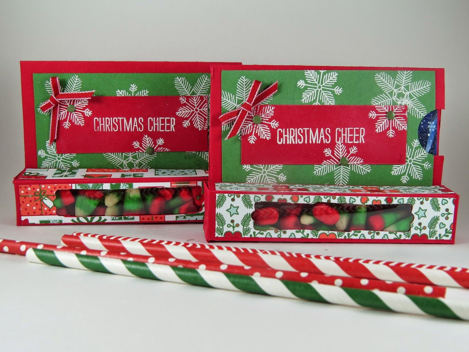 Four christmas-themed boxes photo