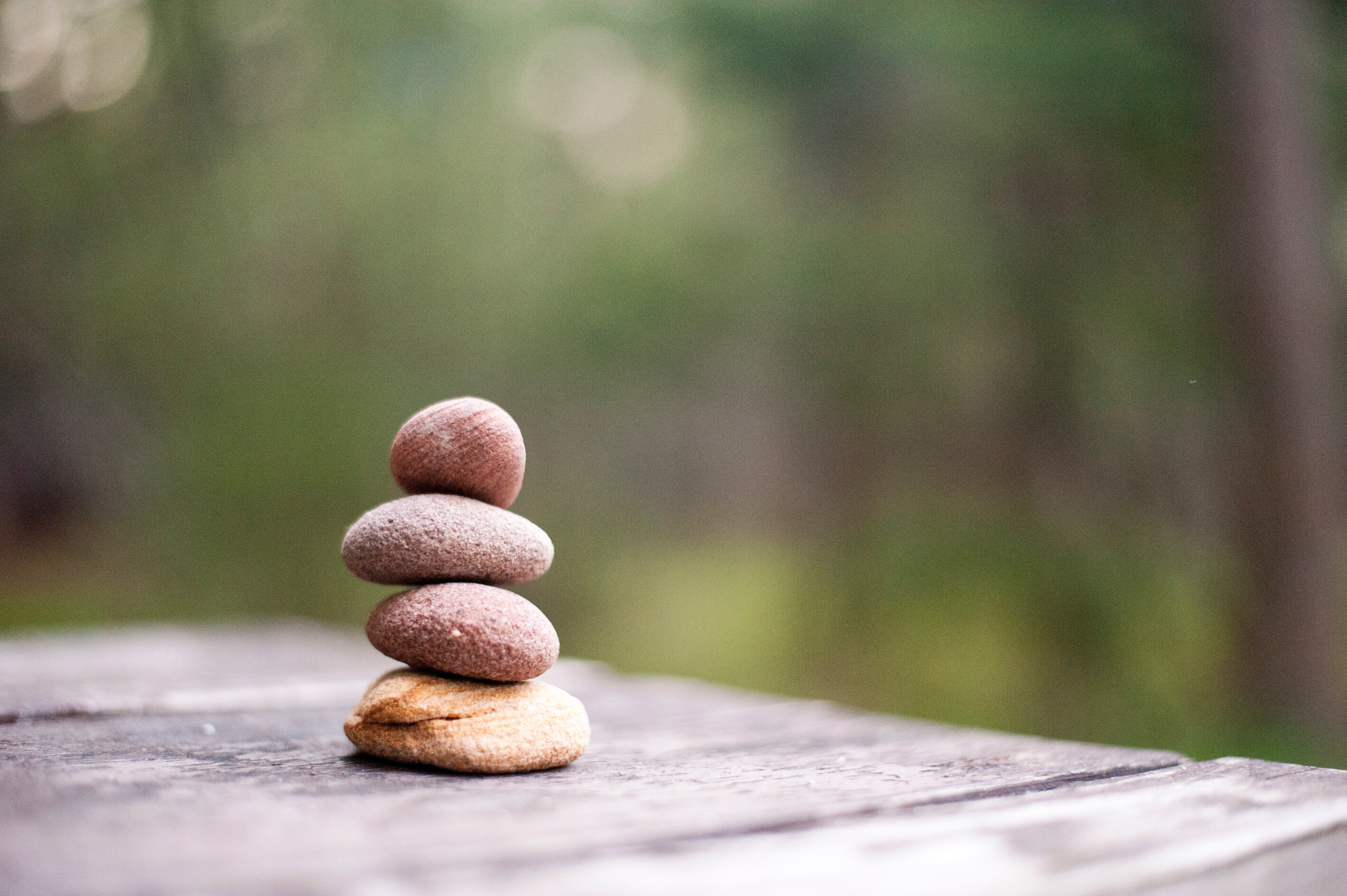 Four Rock Formation, Balance, Rock balancing, Wooden table, Wood, HQ Photo