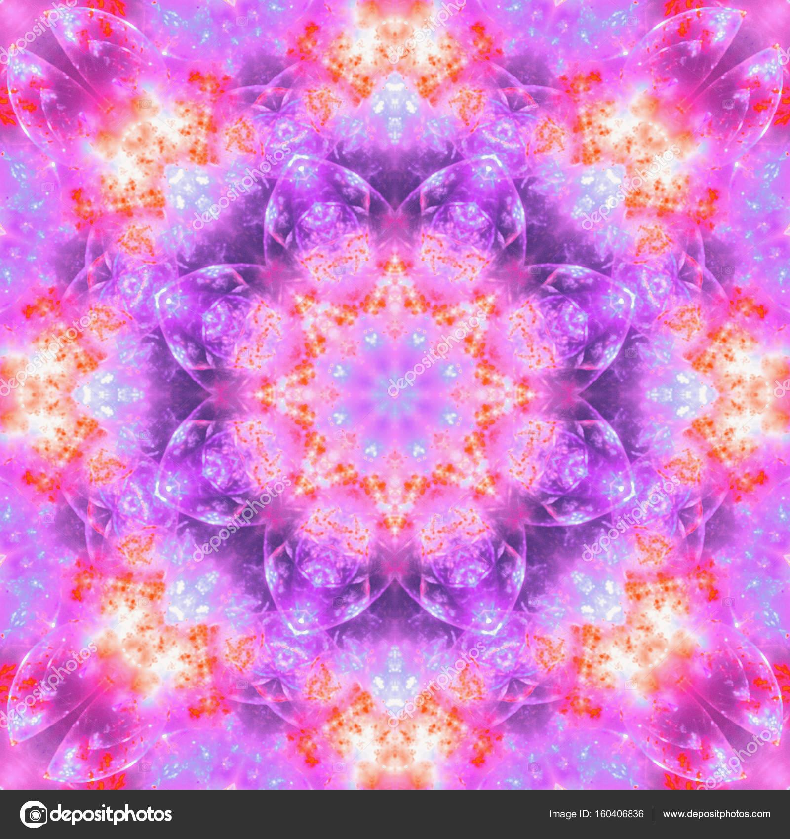 Soft pastel fractal mandala, digital artwork for creative graphic ...