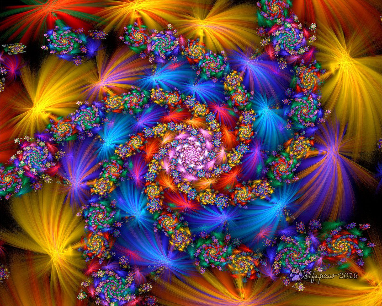 Rainbow Elliptic Spiral by wolfepaw.deviantart.com on @DeviantArt ...
