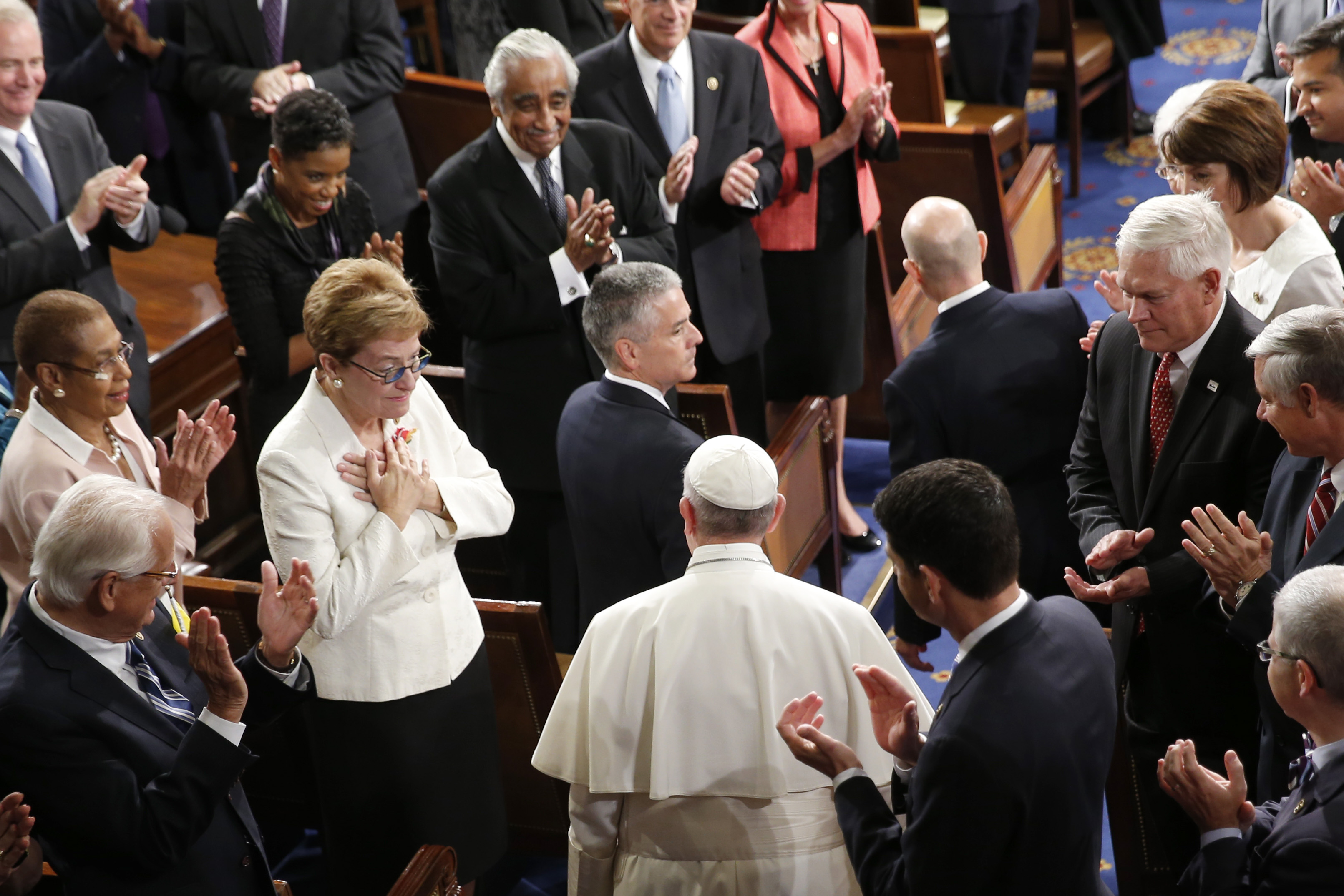 Pope Francis challenges Congress to heal world's 'open wounds' - The ...