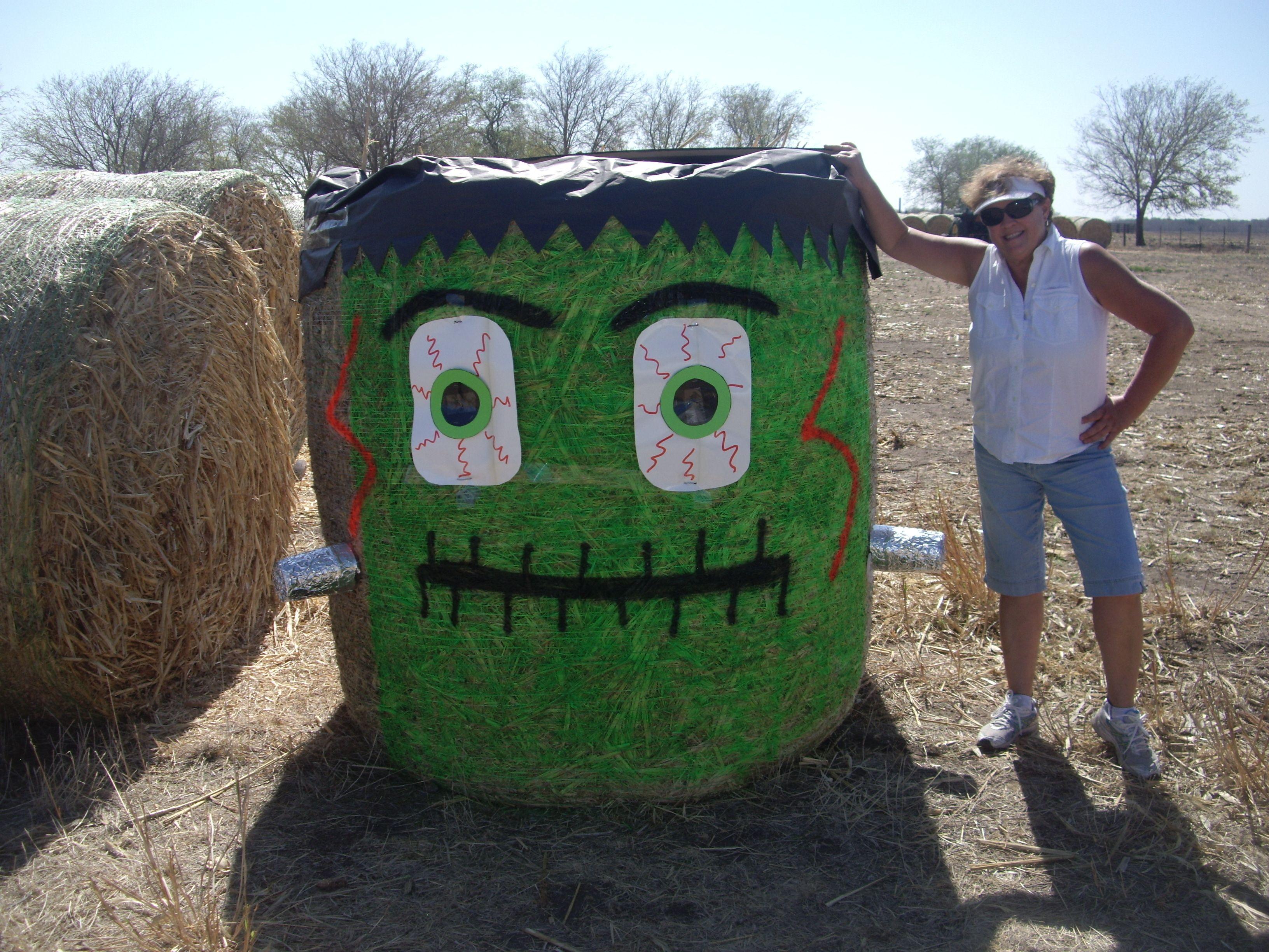 Halloween Hay Bales   Yep, I'm a farm girl   Pinterest   Hay bales ...