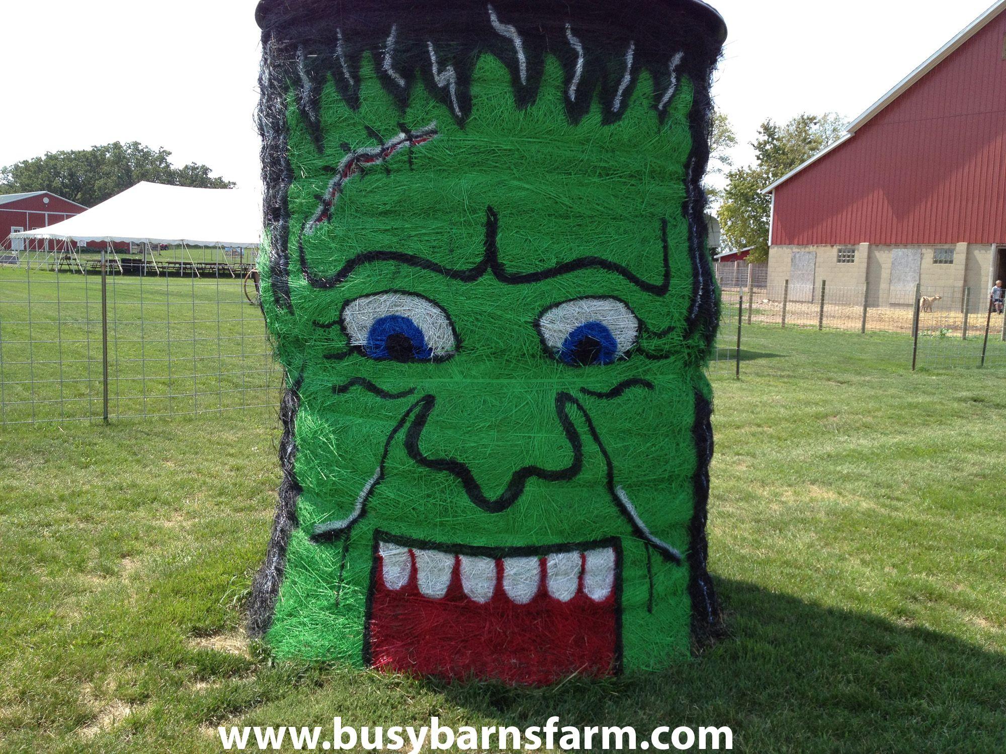 Busy Barns Farm Frankenstein Round Bale Art   Round Bale Art ...