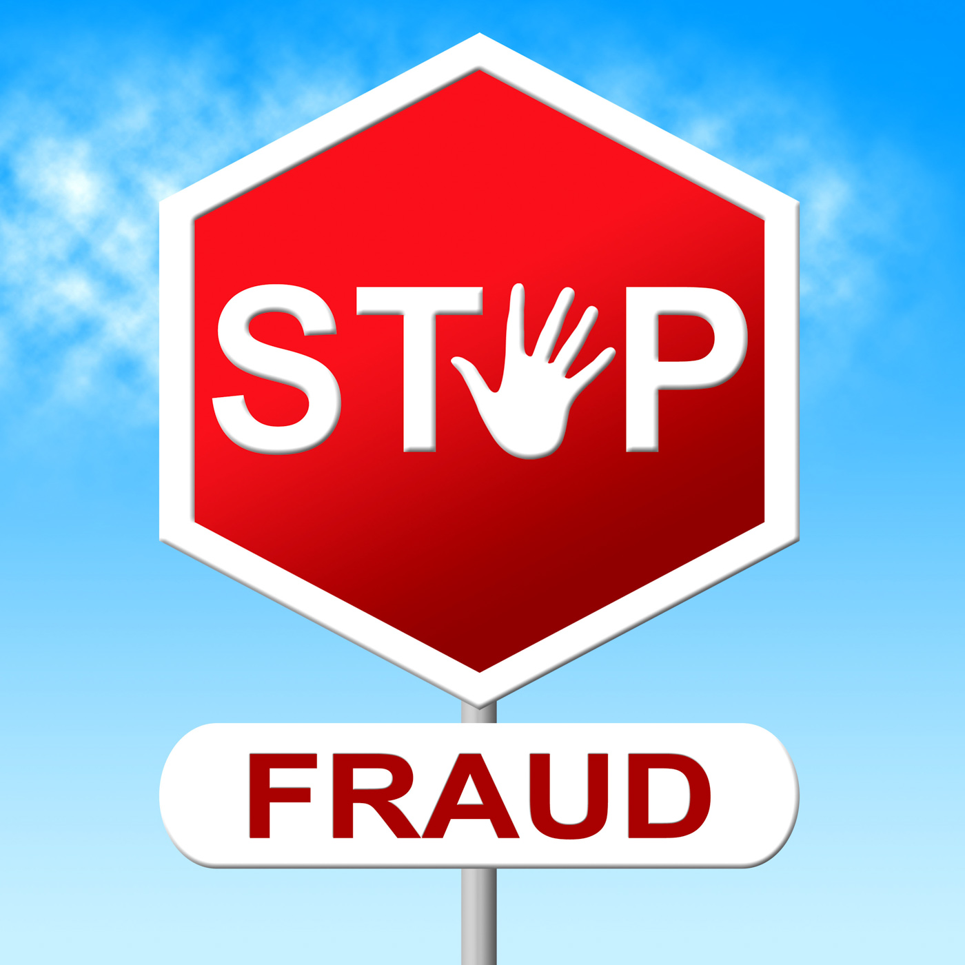Fraud Stop Represents Warning Sign And Cheat, Caution, Prohibit, Warning, Swindle, HQ Photo