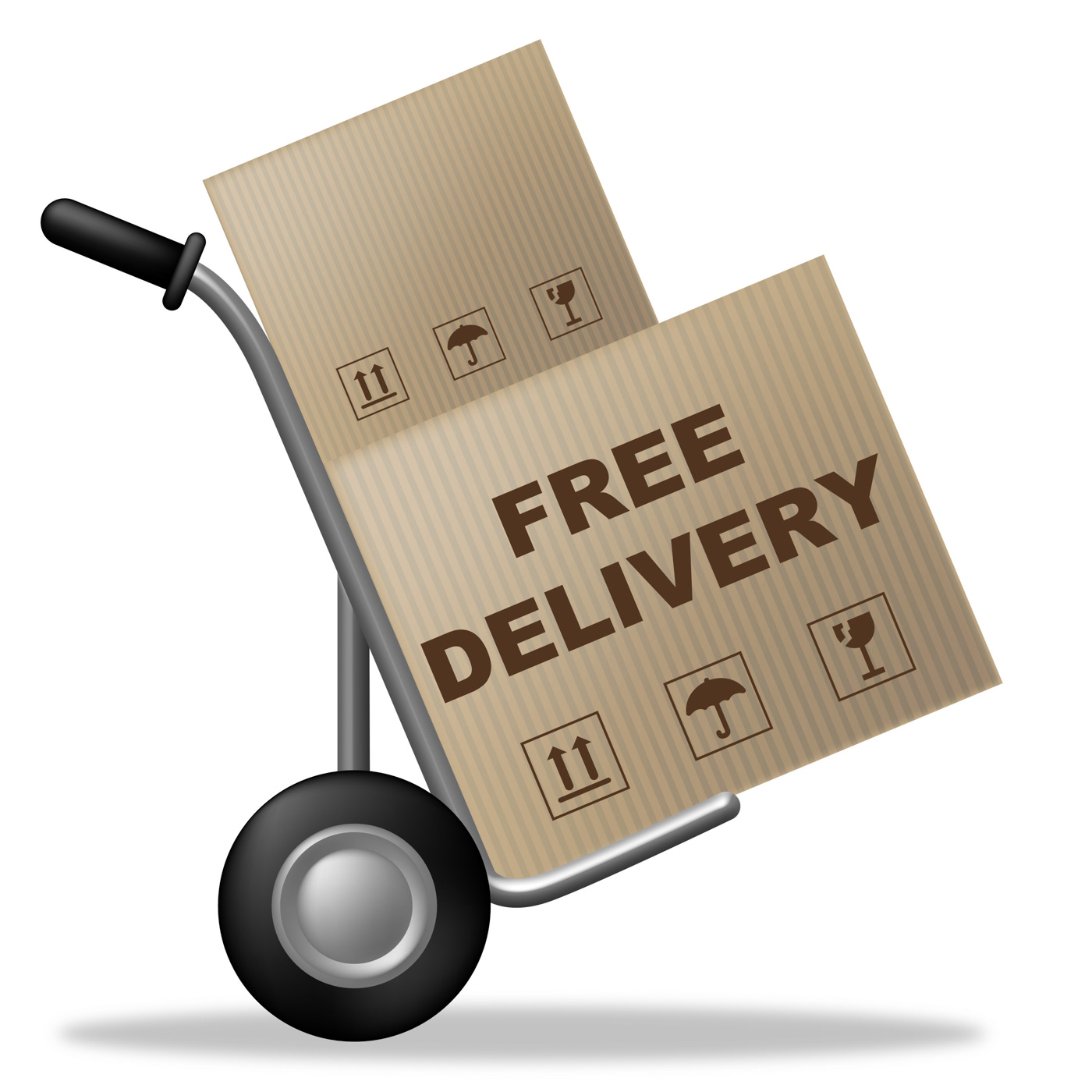 Free Delivery Shows With Our Compliments And Box, Handout, Withourcomplimen, Shippingbox, Shipping, HQ Photo