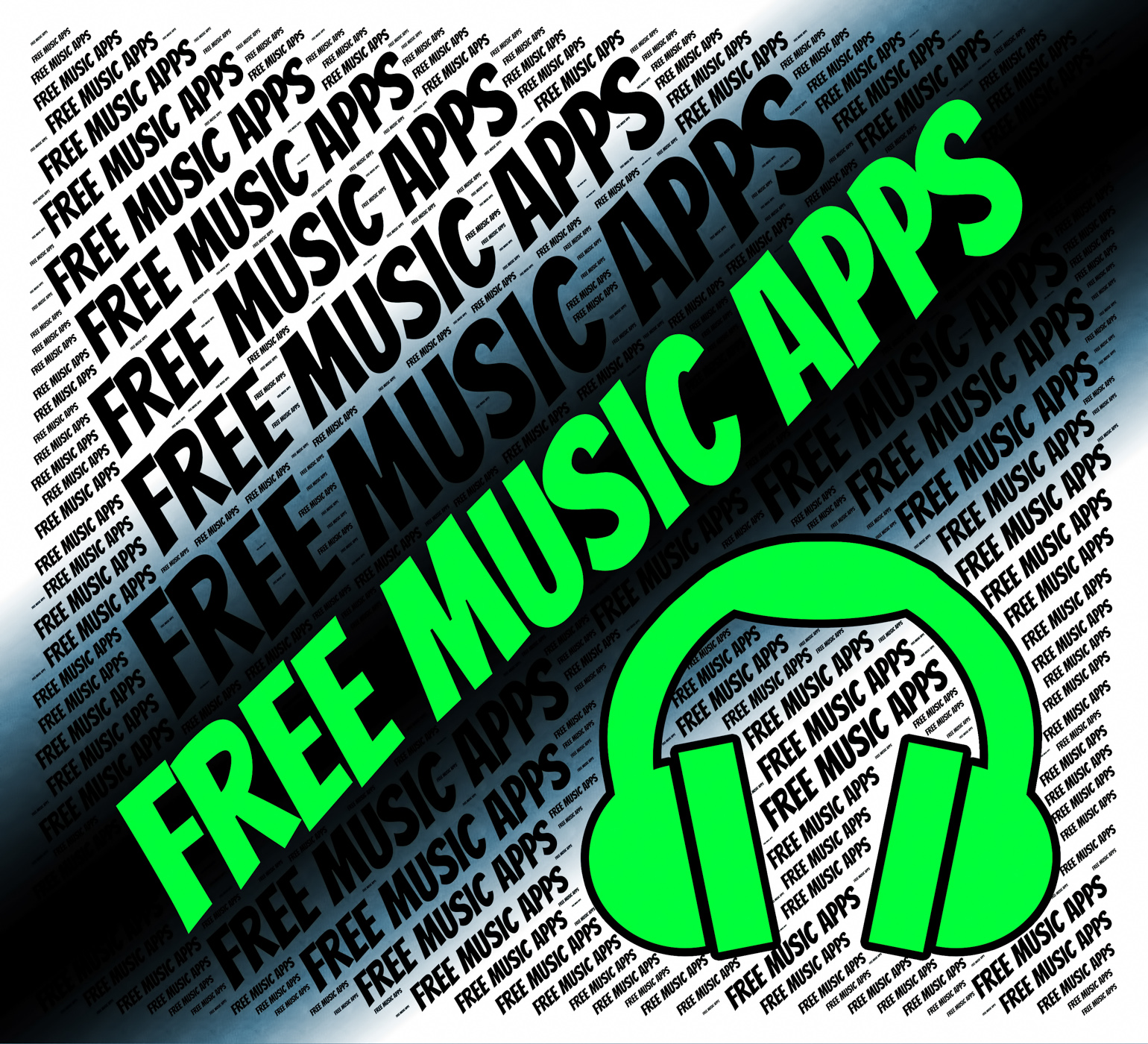 Free Music Apps Indicates Sound Track And Applications, Acoustic, Harmonies, Sound, Songs, HQ Photo