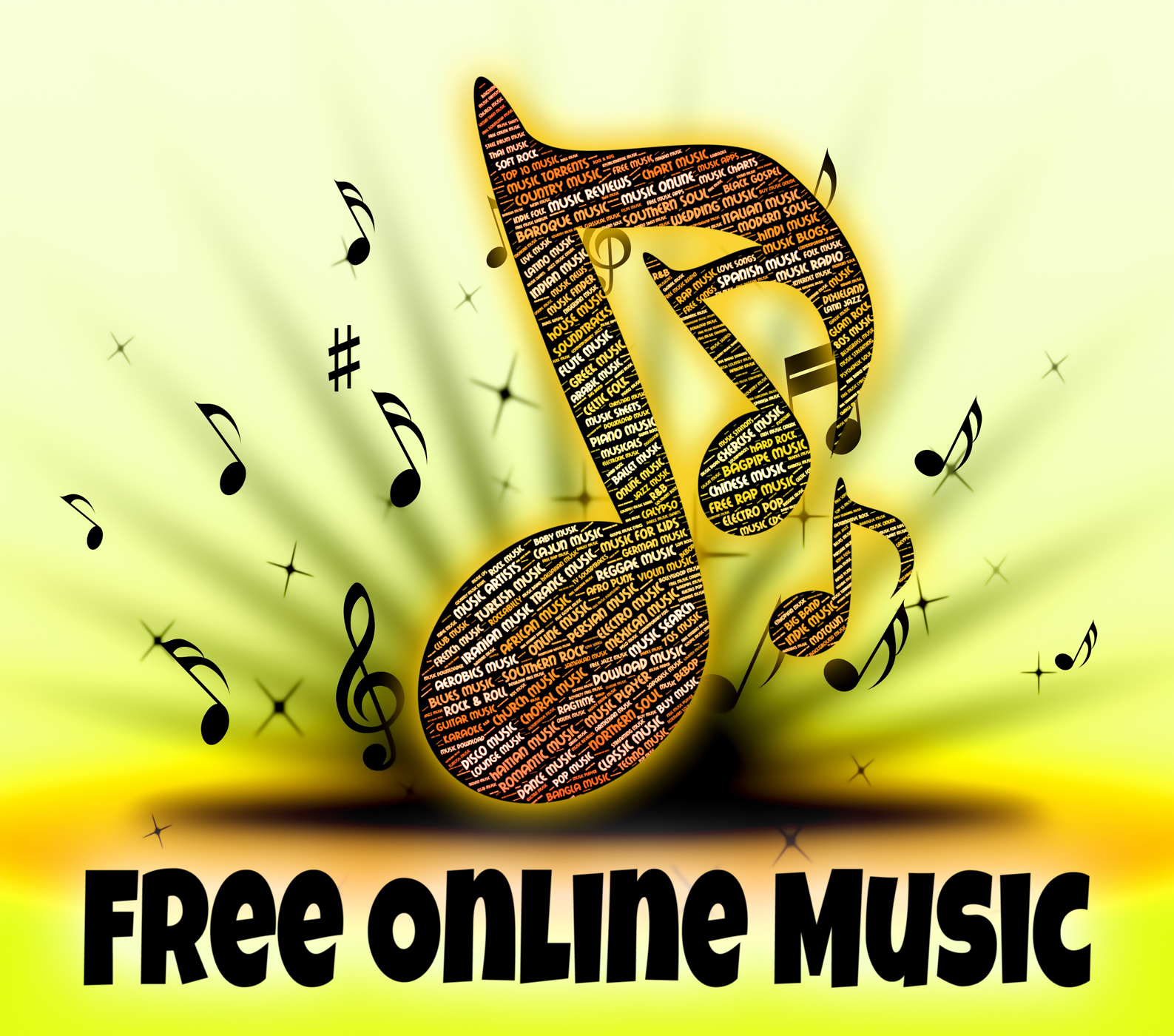 Free Online Music Represents For Nothing And Freebie, Acoustic, Network, Web, Tunes, HQ Photo