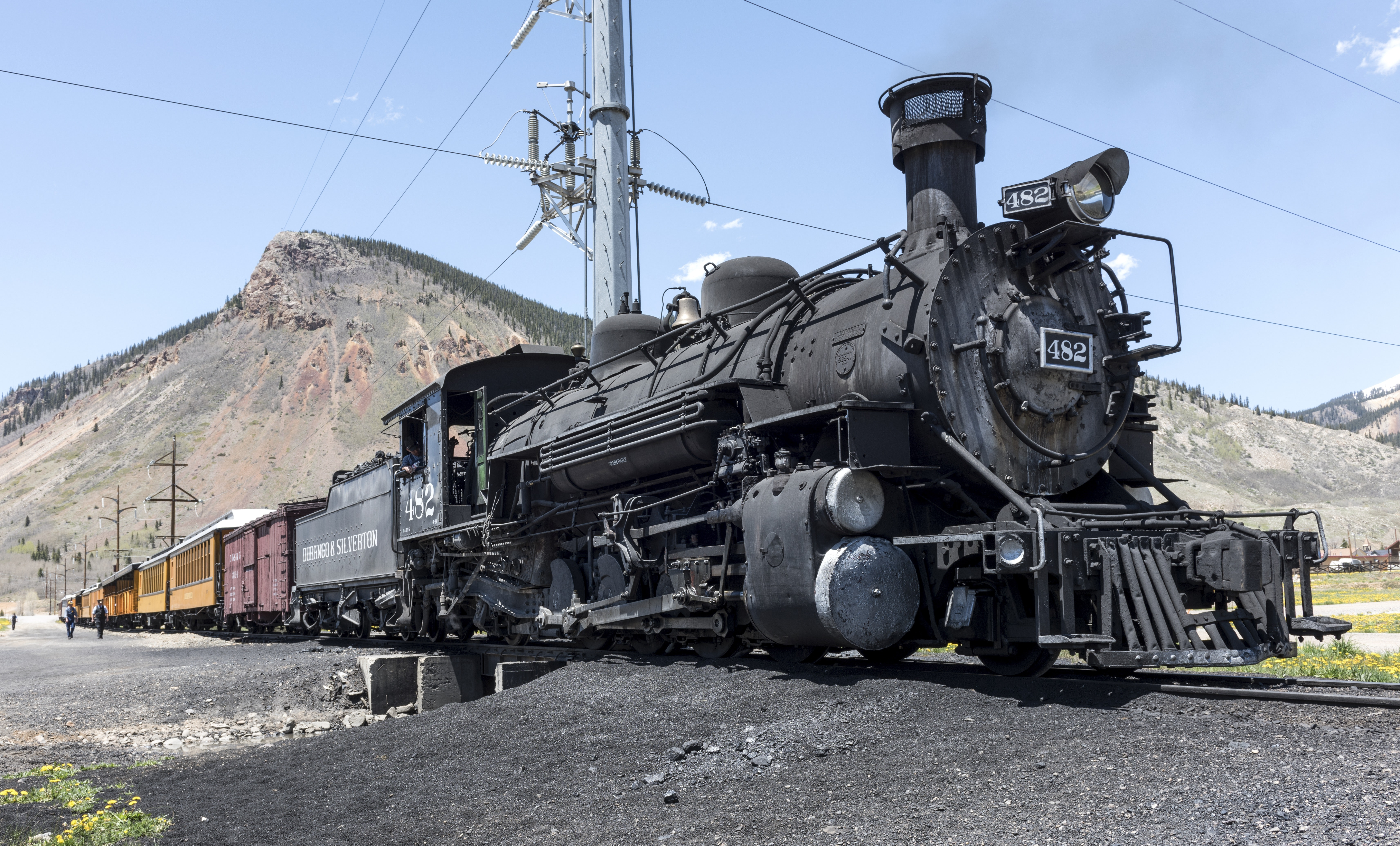 Freight Train during Day, Coal, Track, Vehicle, Utility pole, HQ Photo