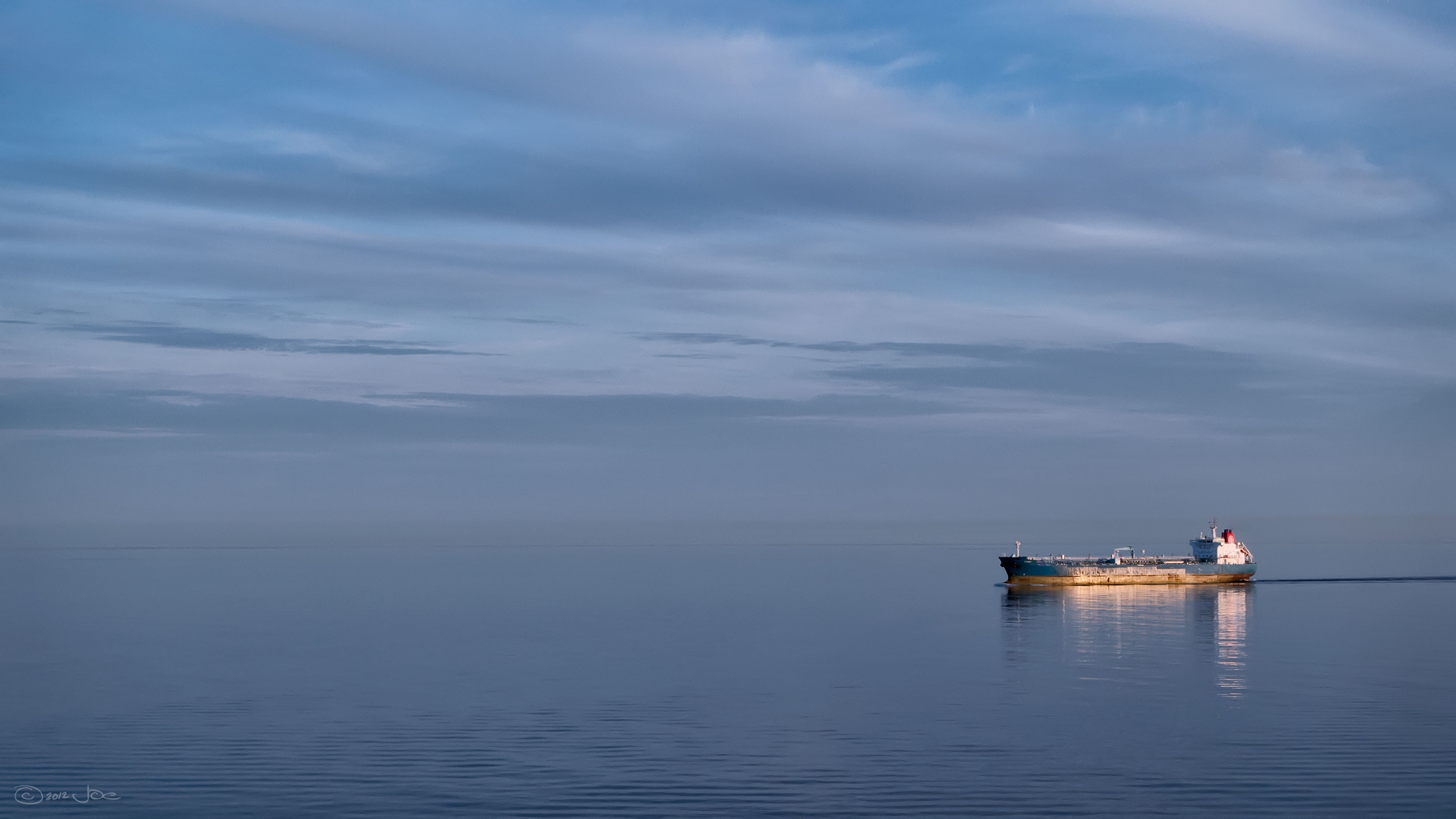Freighter, baltic sea photo