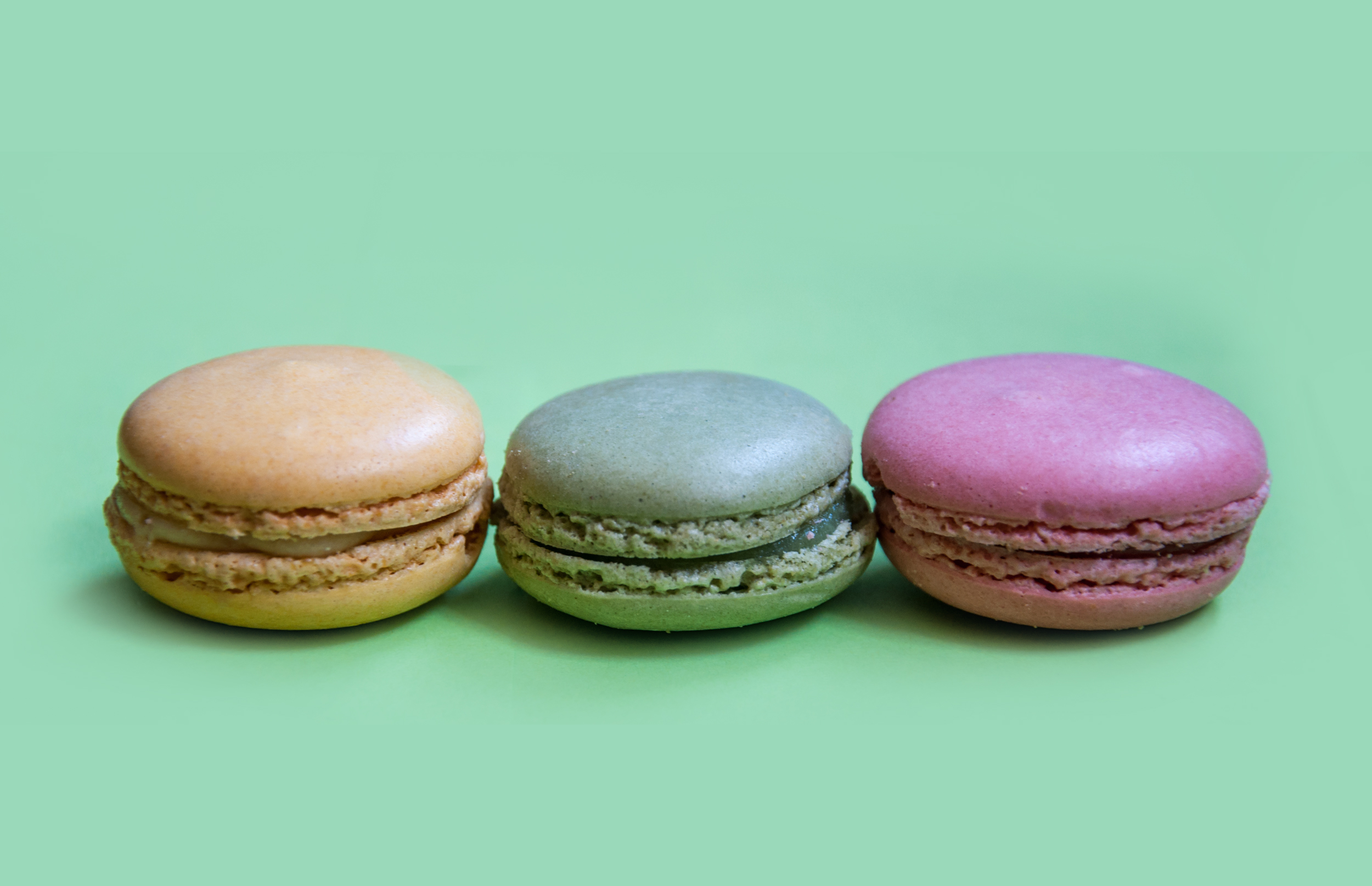 French macaroons dessert cookies photo