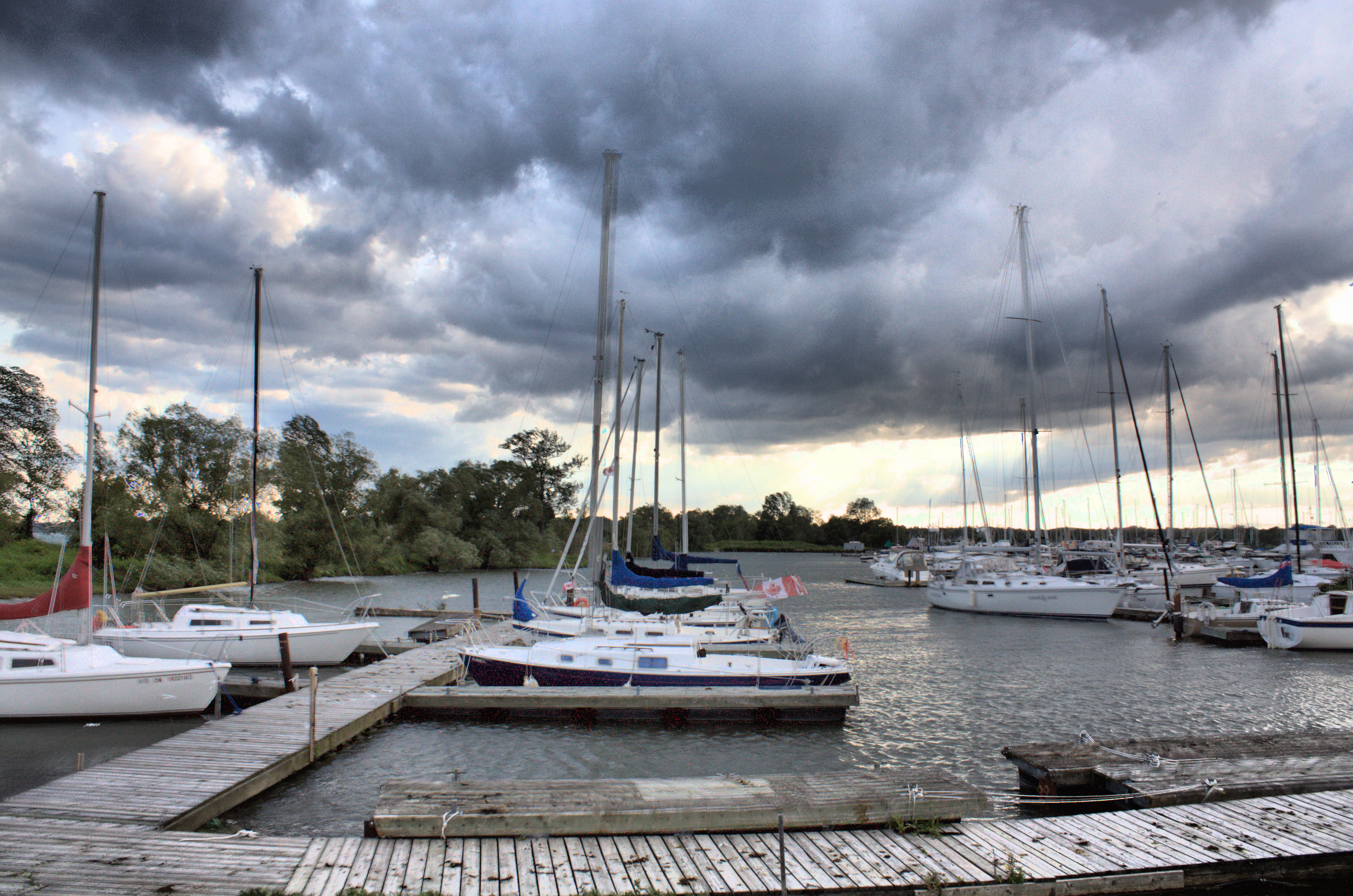 Frenchmans Bay, Bay, Boats, Clouds, Harbor, HQ Photo