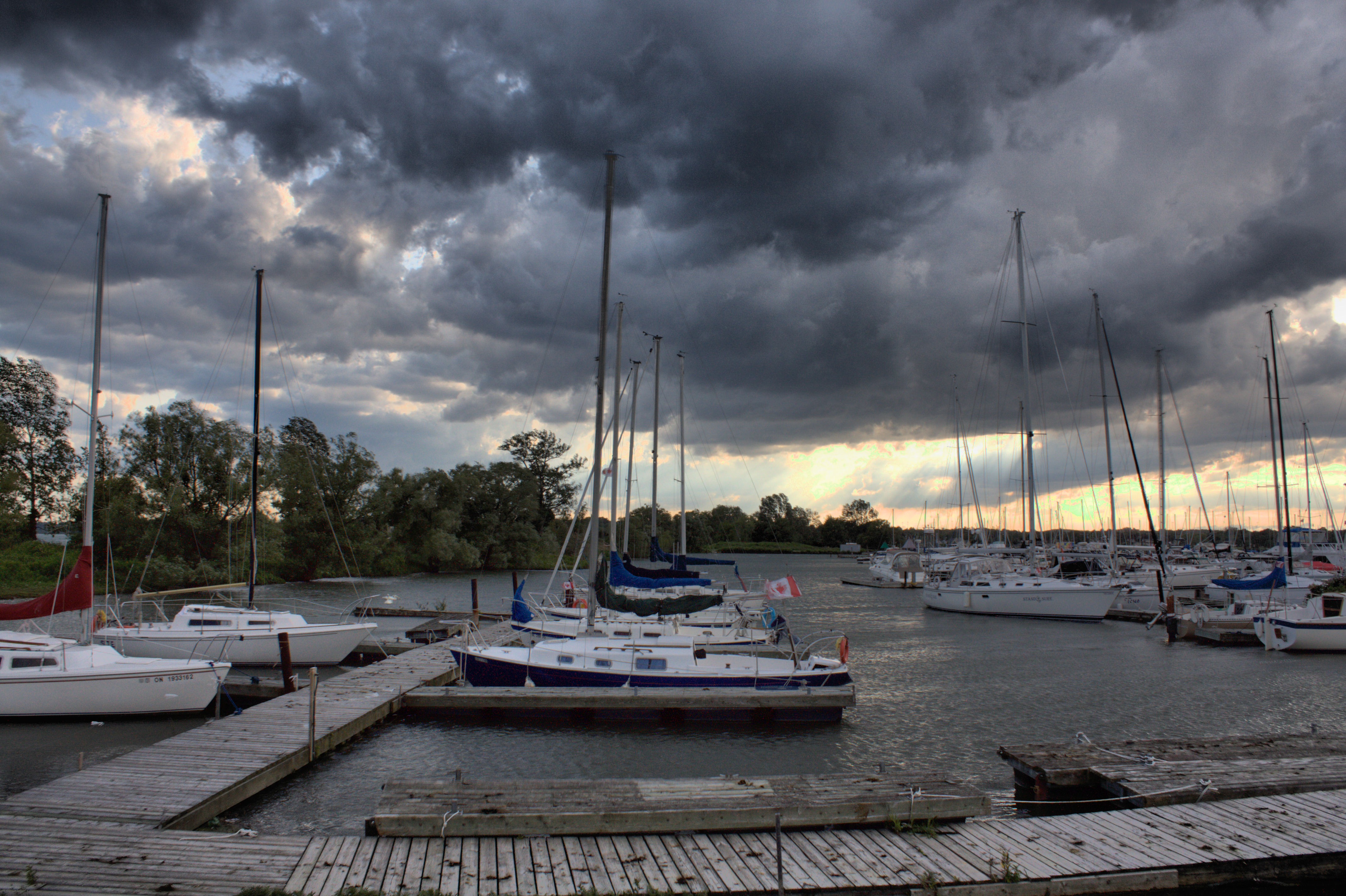 Frenchmans Bay, Storm, Scenic, Vessels, Water, HQ Photo