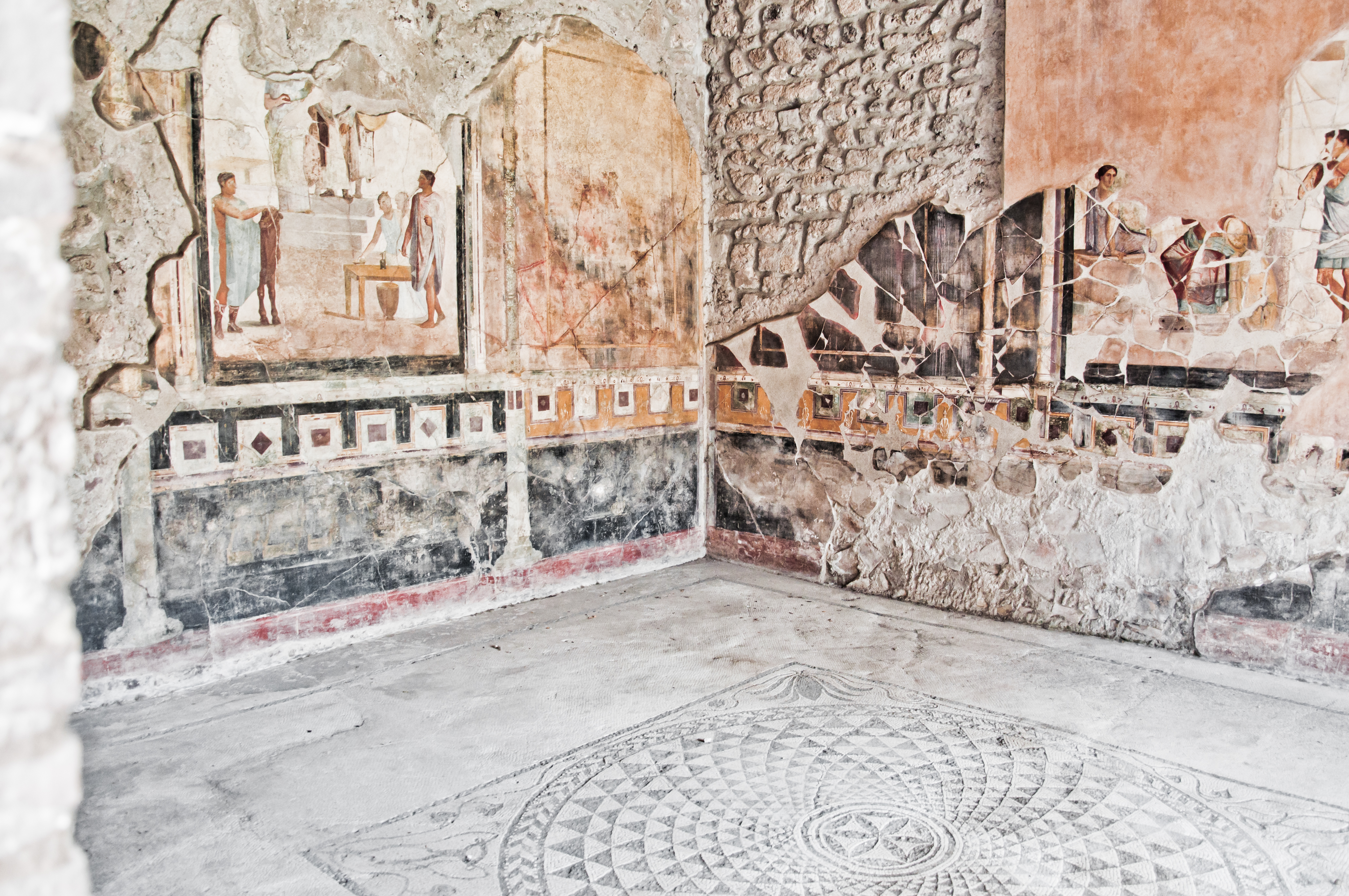 Fresco at the ancient Roman city of Pomp, Rome, Italy, Old, Past, HQ Photo