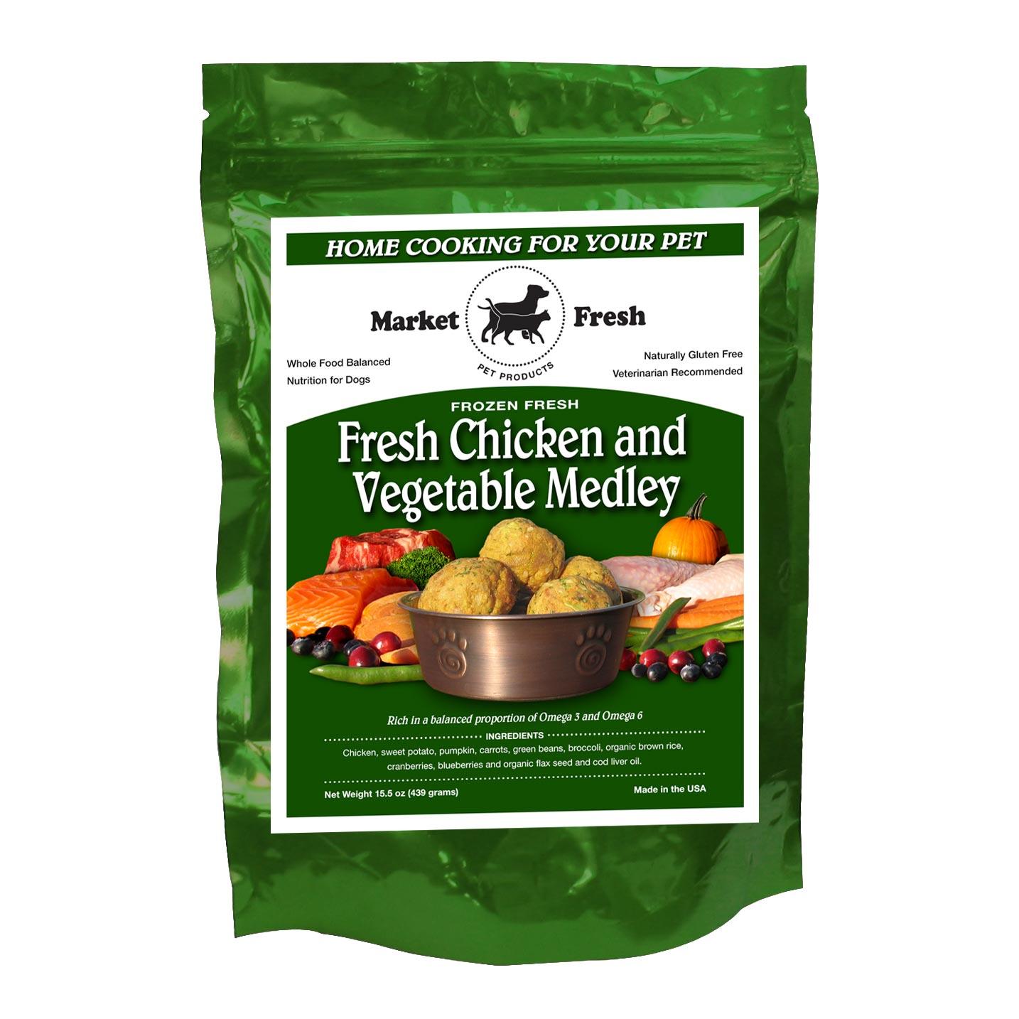 Fresh Chicken and Vegetable Medley | Market Fresh Pet Foods