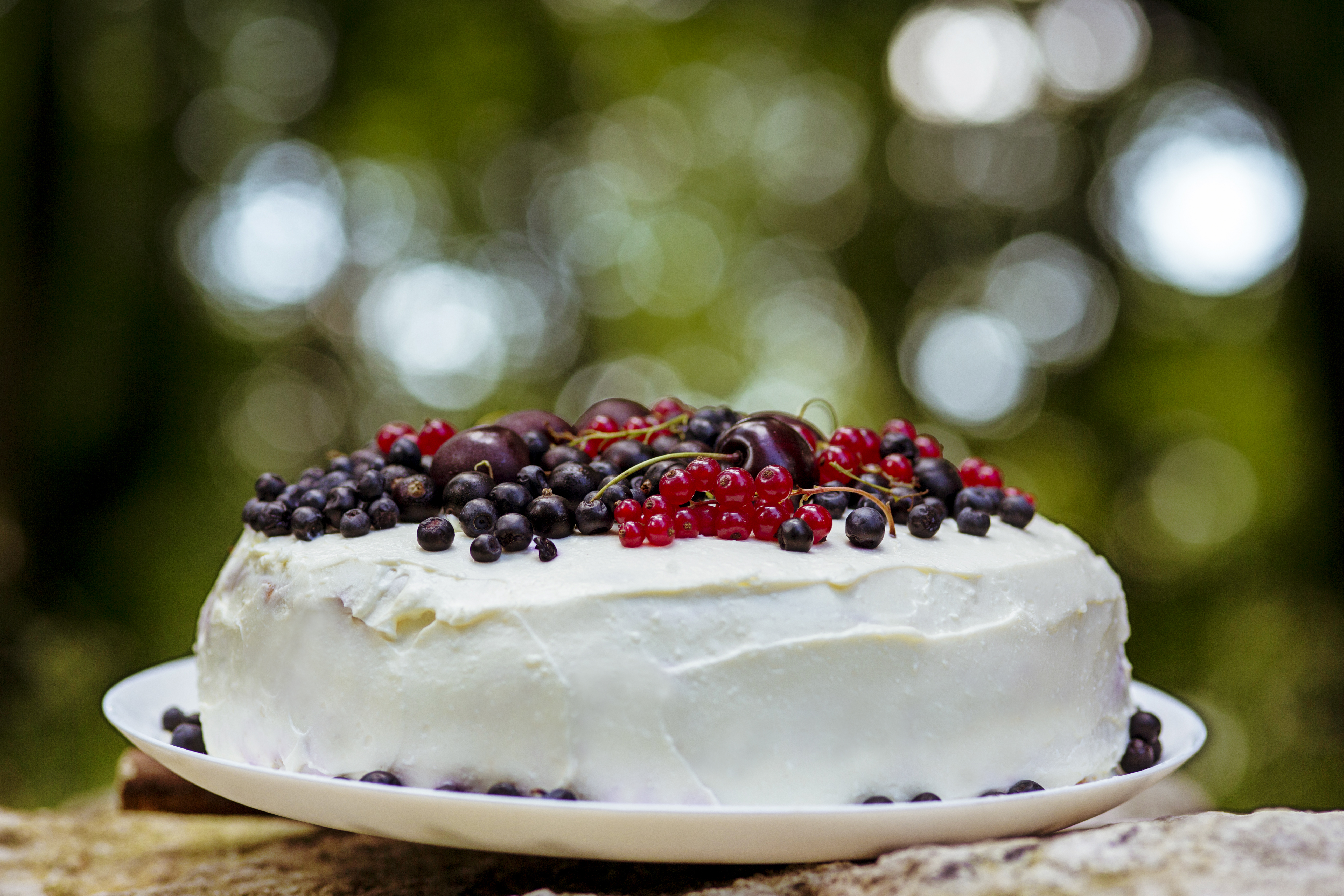 Fresh berry cake, Freshberries, Outdoors, Summer, Sweets, HQ Photo